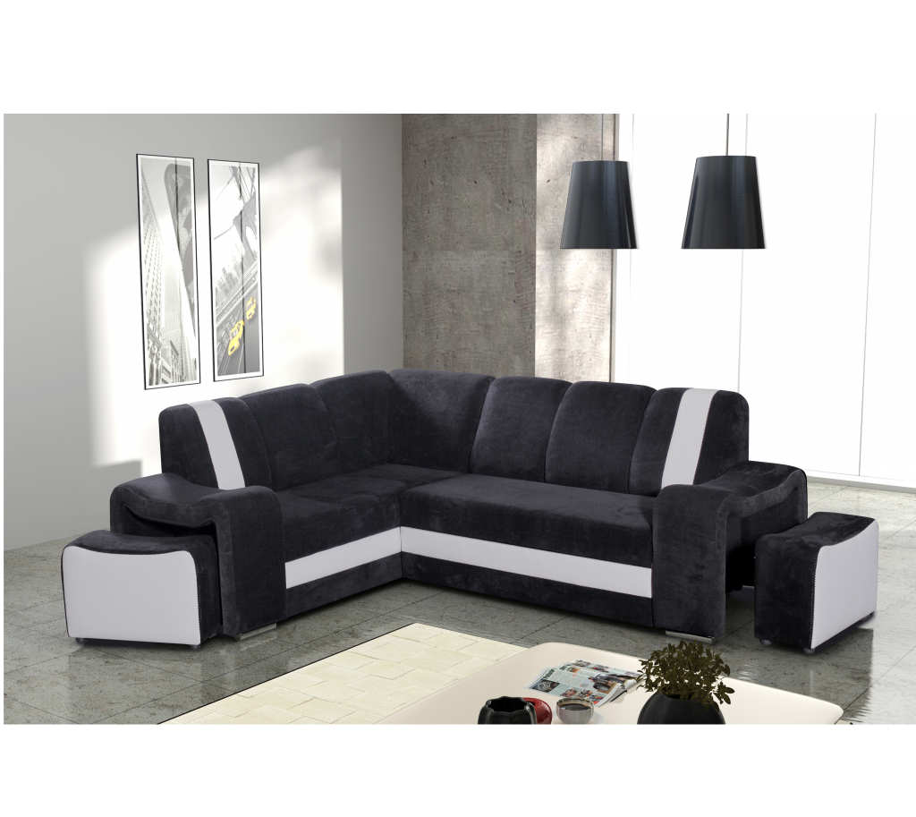 ecksofa brooklyn schwarz m bel muller braun. Black Bedroom Furniture Sets. Home Design Ideas