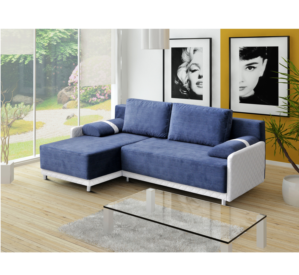 ecksofa indiana blau m bel muller braun. Black Bedroom Furniture Sets. Home Design Ideas