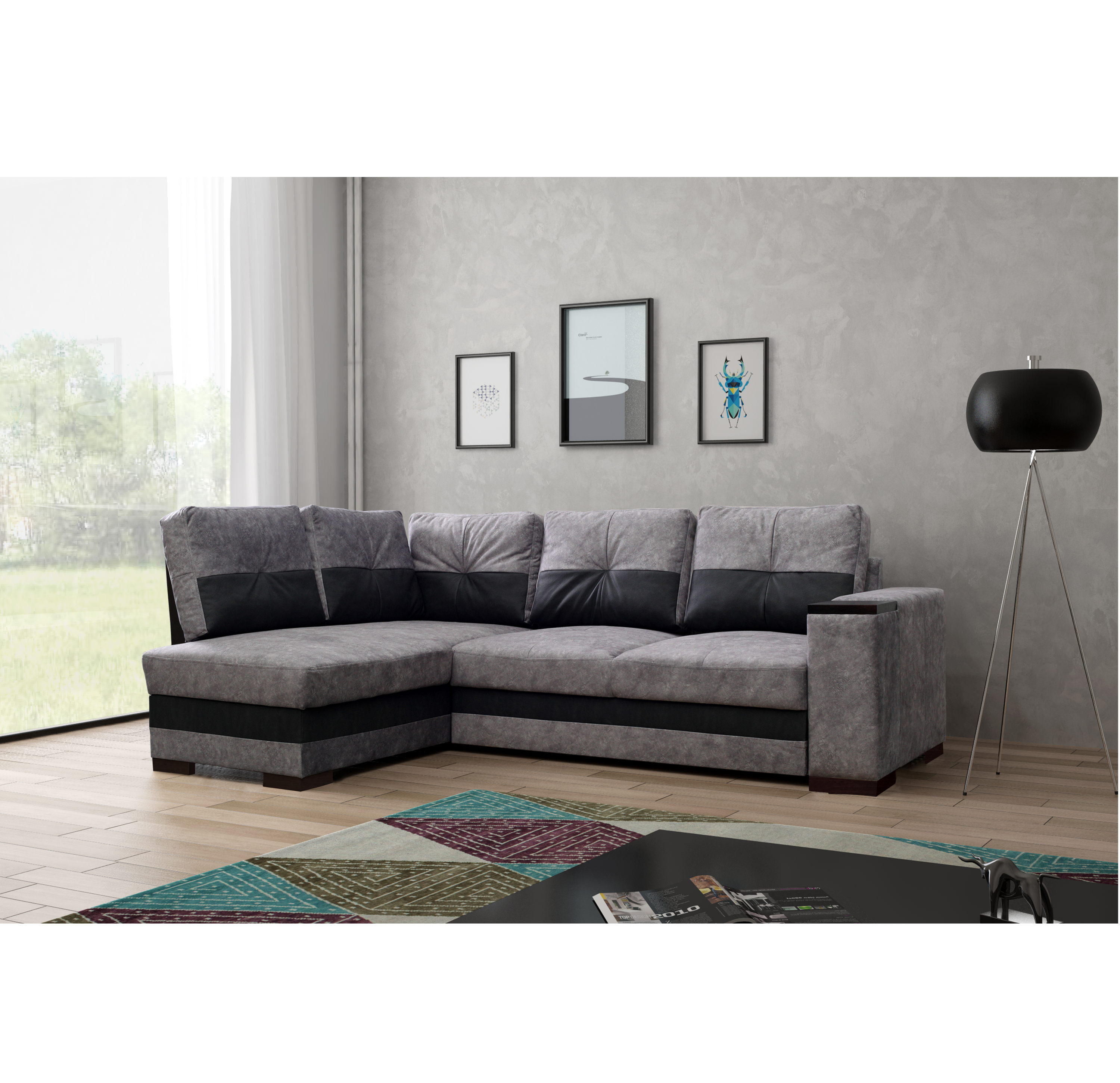 ecksofa miami grau m bel muller braun. Black Bedroom Furniture Sets. Home Design Ideas