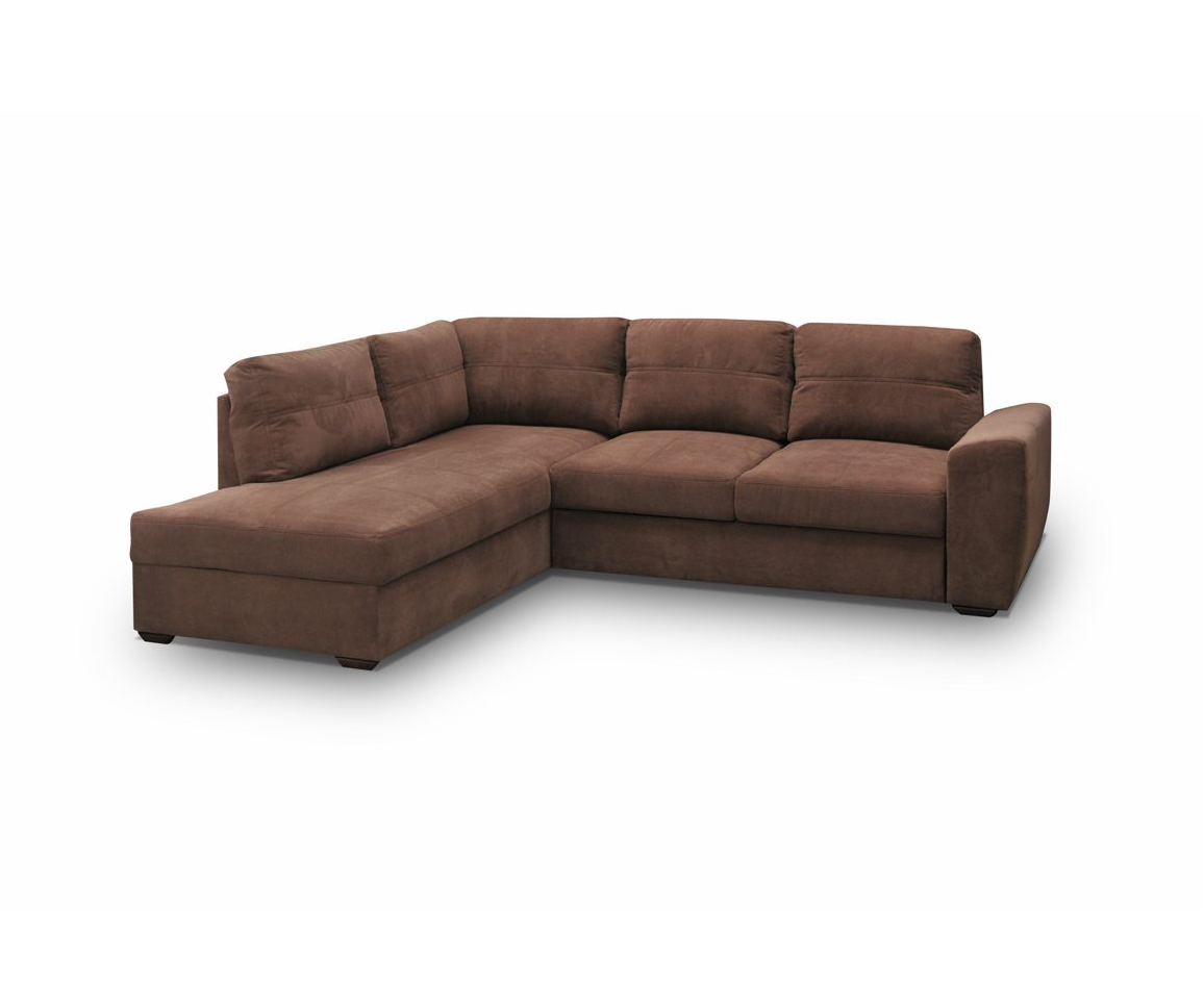 ecksofa sofa eckcouch mit schlaffunktion microfaser braun stoffsofa couch presto ebay. Black Bedroom Furniture Sets. Home Design Ideas