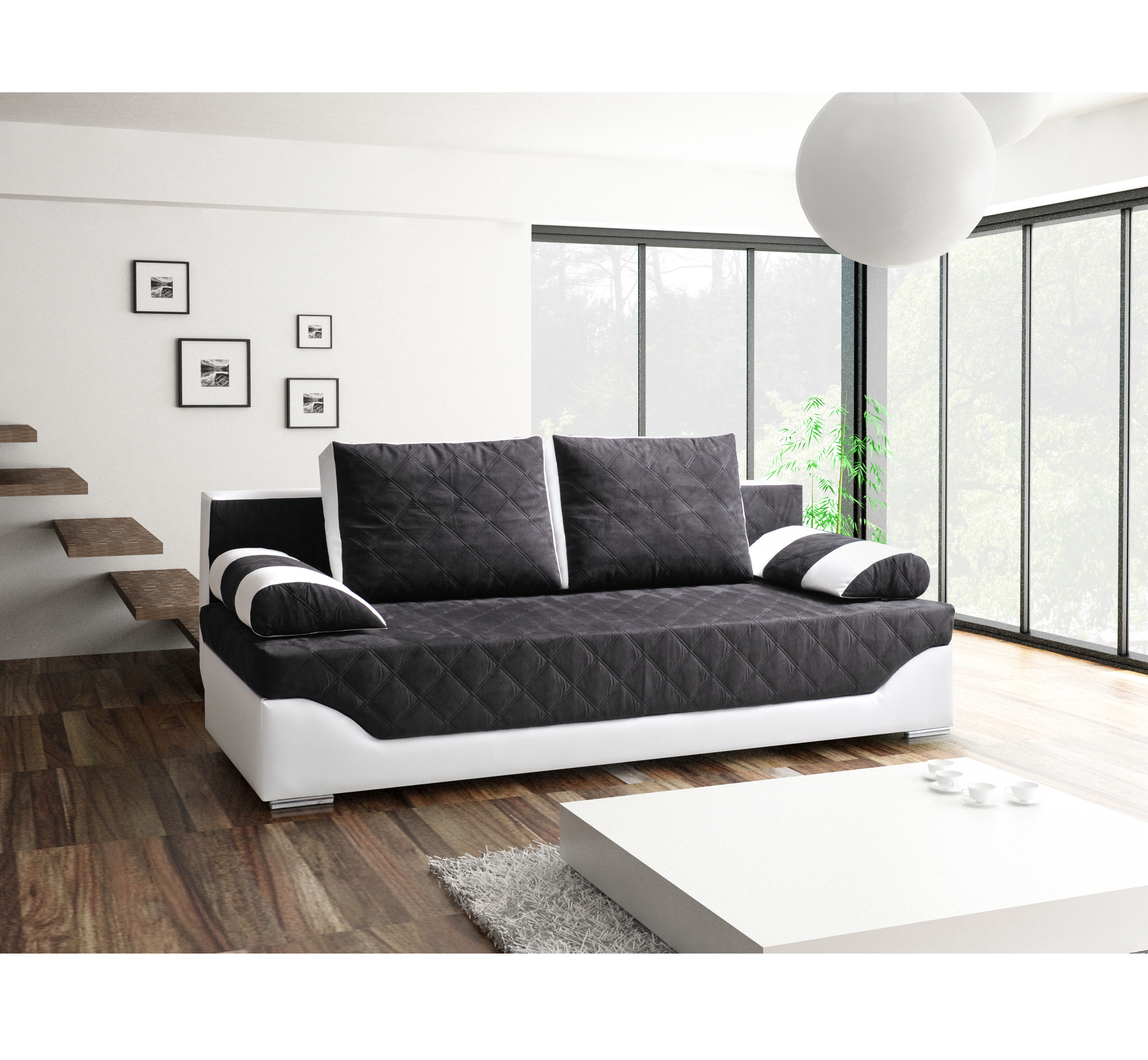 sofa atlantis schwarz m bel muller braun. Black Bedroom Furniture Sets. Home Design Ideas