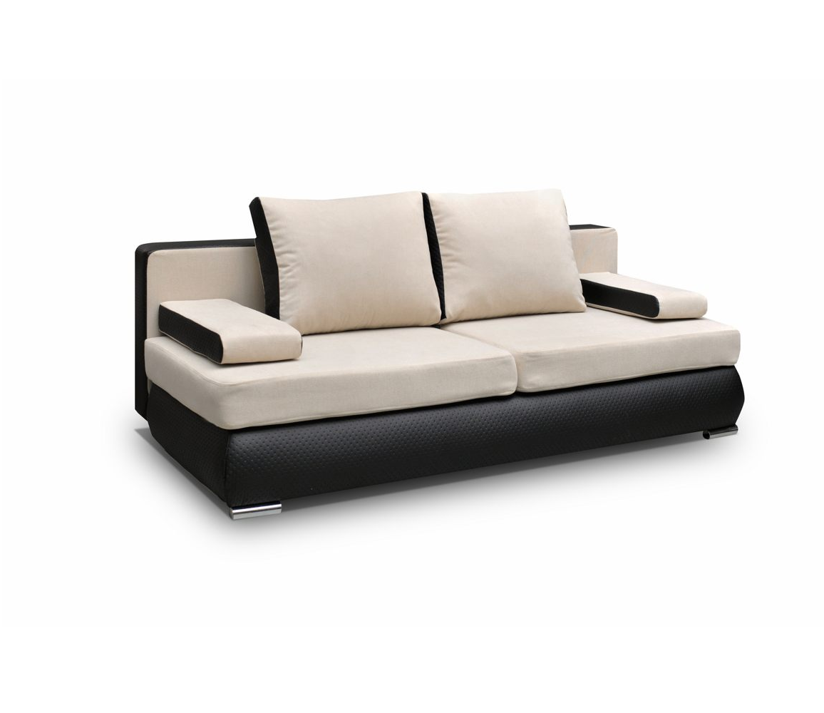 couch mit schlaffunktion sofa schlafsofa beige schwarz. Black Bedroom Furniture Sets. Home Design Ideas