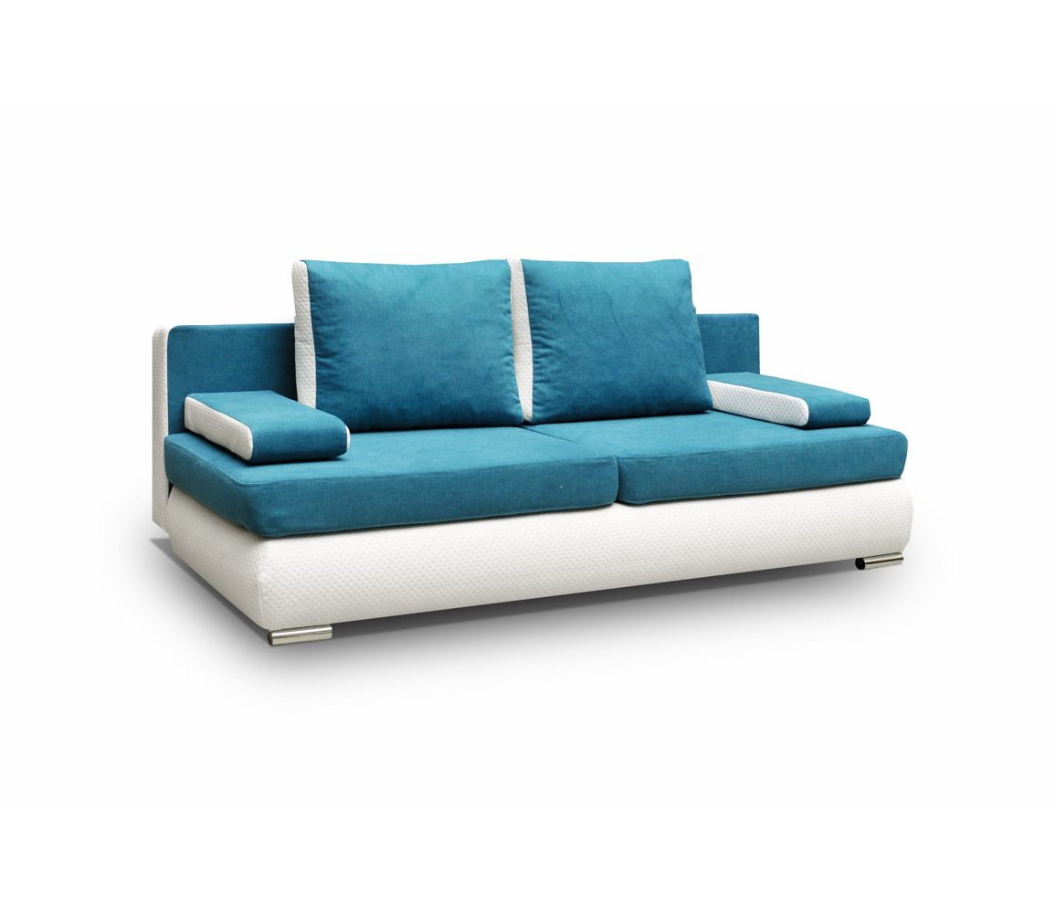 couch mit schlaffunktion sofa schlafsofa blau t rkis microfaser madagaskar ebay. Black Bedroom Furniture Sets. Home Design Ideas
