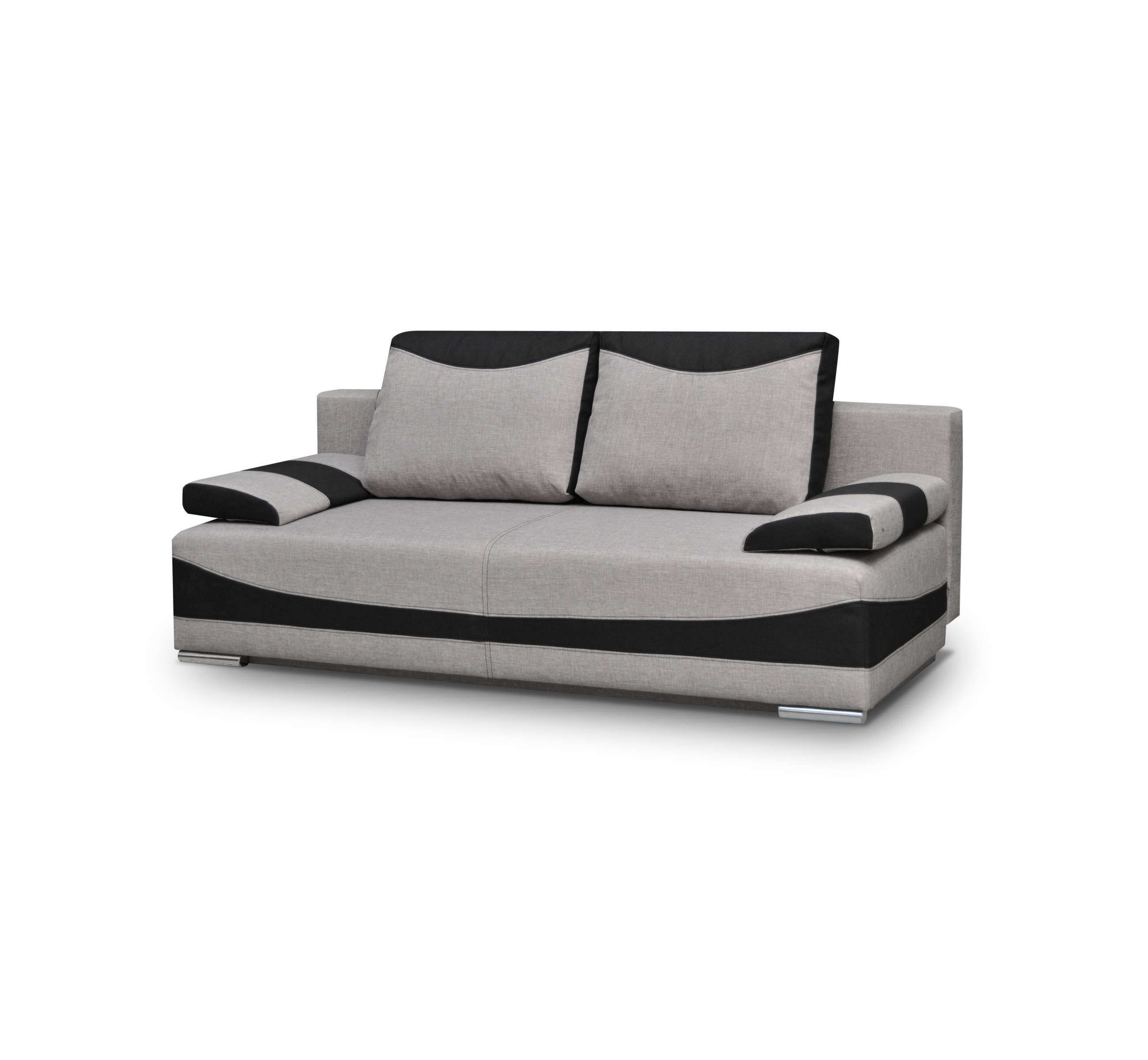 couch mit schlaffunktion sofa mit bettkasten bettsofa grau schwarz xxl pablo ebay. Black Bedroom Furniture Sets. Home Design Ideas