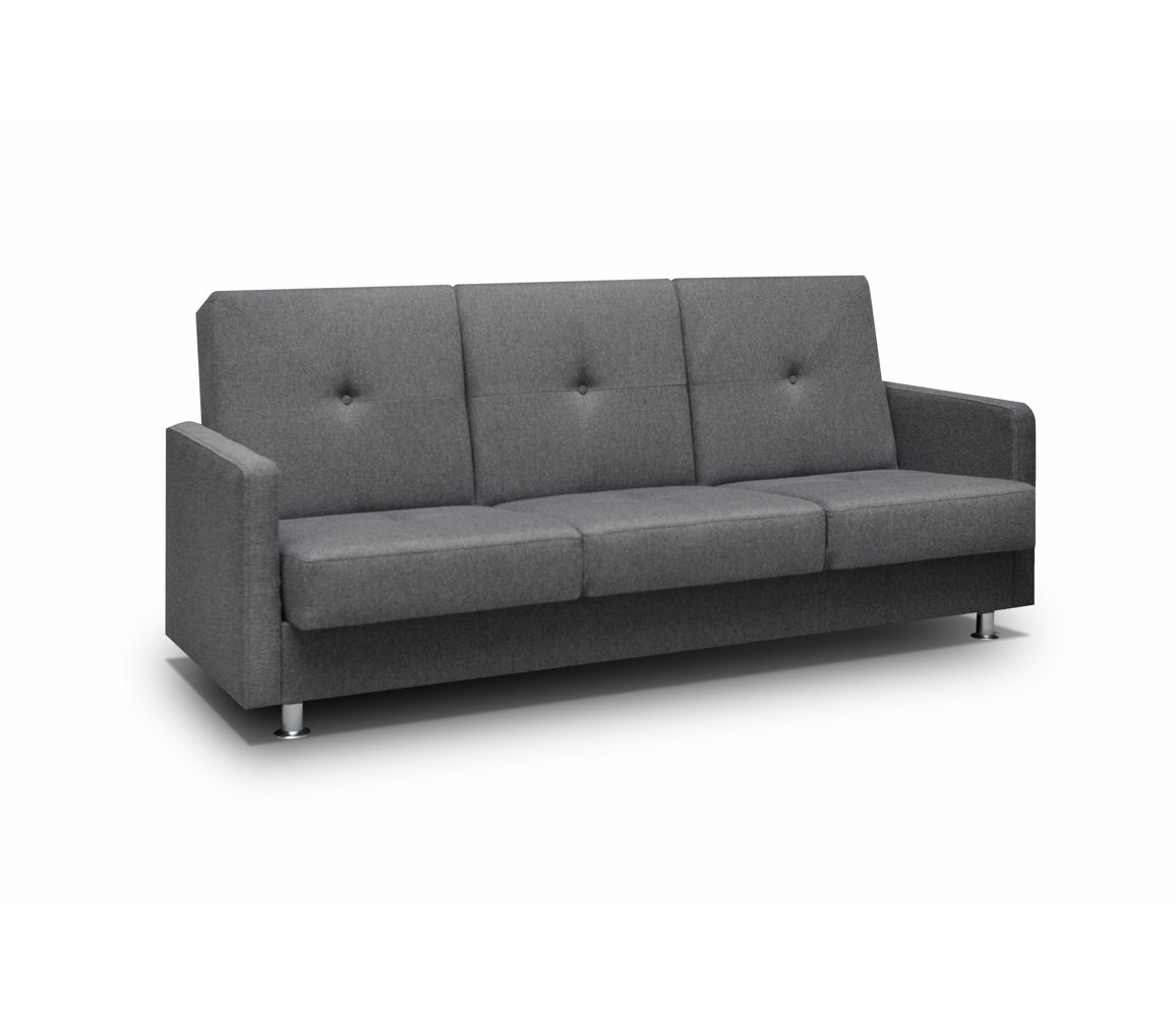 kleine couch mit schlaffunktion schlafsofa wohnzimmercouch klappsofa wenus grau ebay. Black Bedroom Furniture Sets. Home Design Ideas
