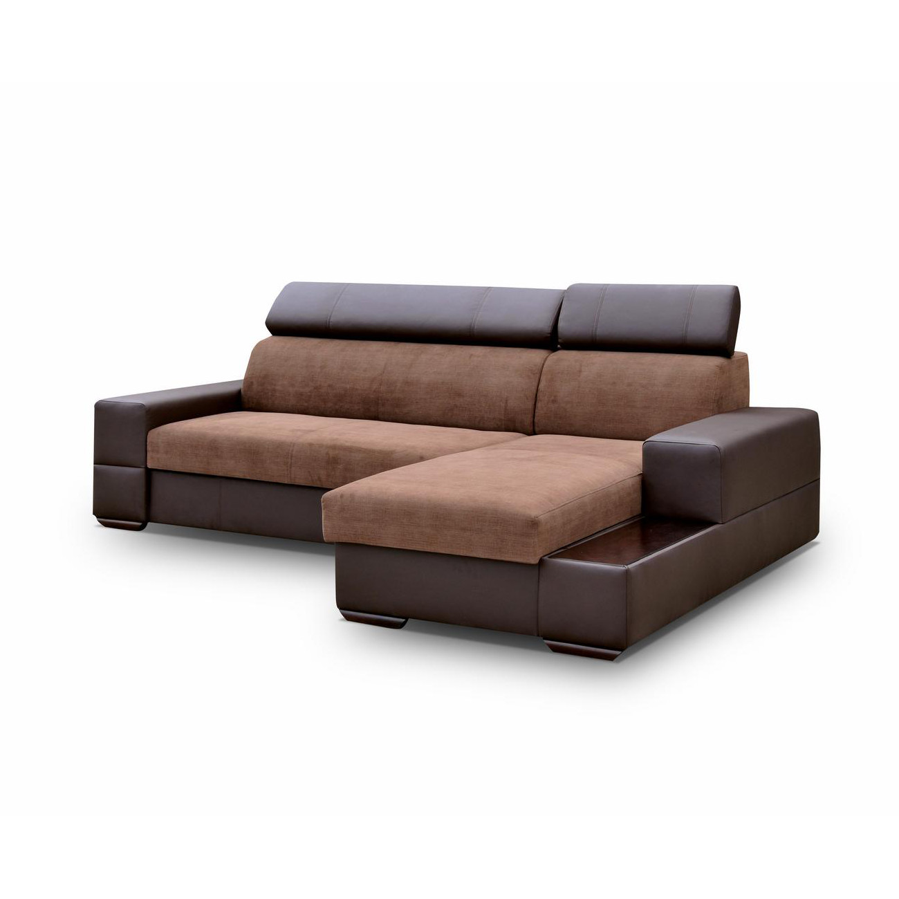 ecksofa sofa eckcouch mit bettkasten polstersofa mit stauraum braun couch capri ebay. Black Bedroom Furniture Sets. Home Design Ideas
