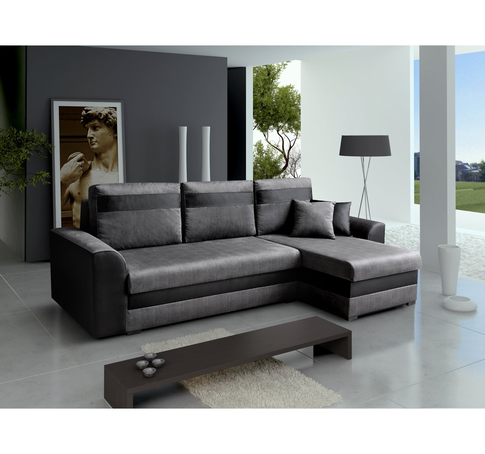 ecksofa tommy grau m bel muller braun. Black Bedroom Furniture Sets. Home Design Ideas