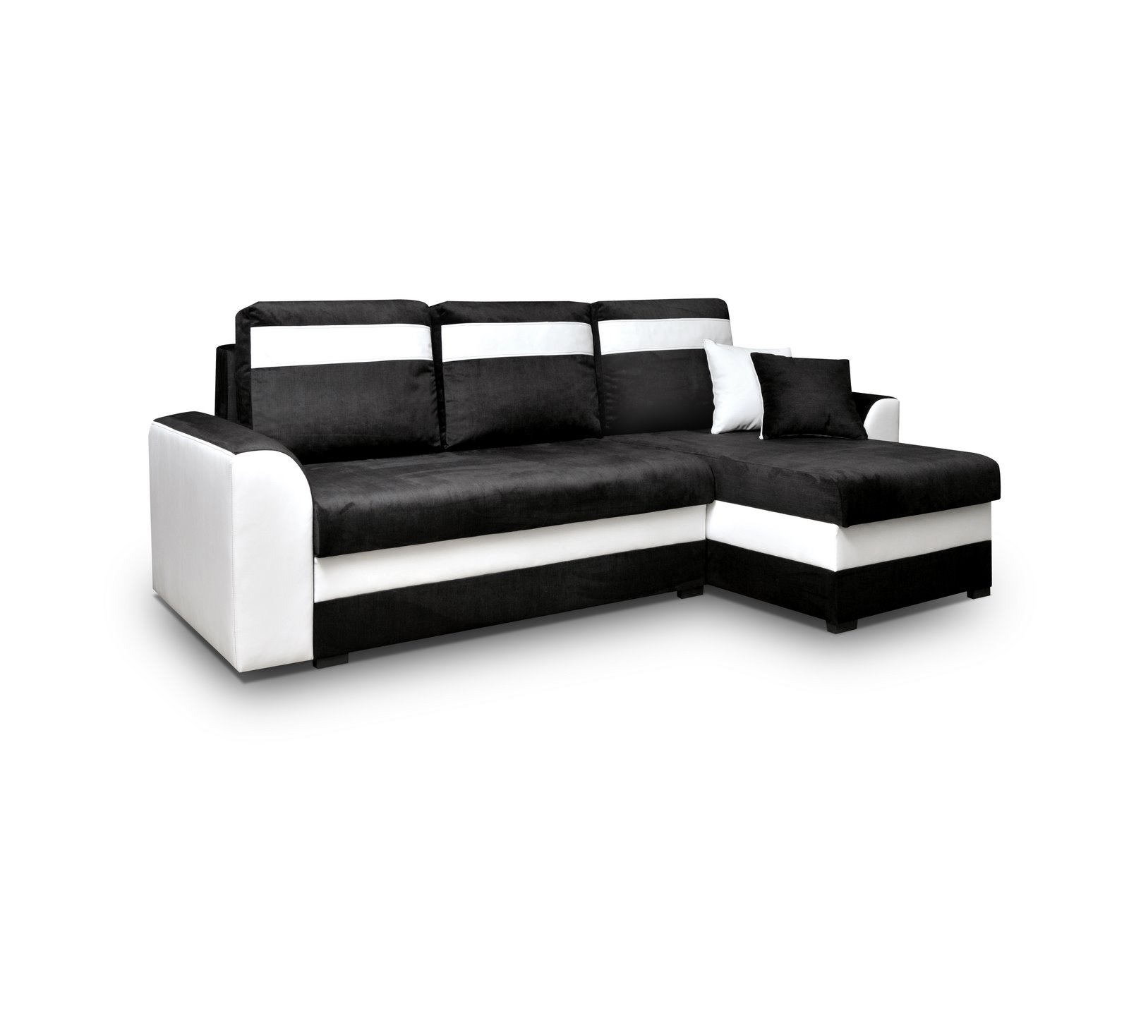 ecksofa sofa couch mit schlaffunktion und zwei bettkasten l form tommy schwarz ebay. Black Bedroom Furniture Sets. Home Design Ideas