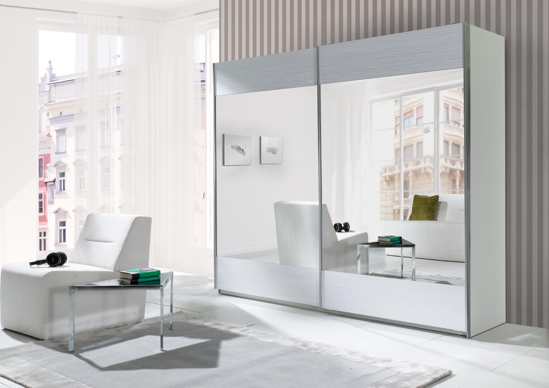 kleiderschrank maxi stripes weiss m bel muller braun. Black Bedroom Furniture Sets. Home Design Ideas