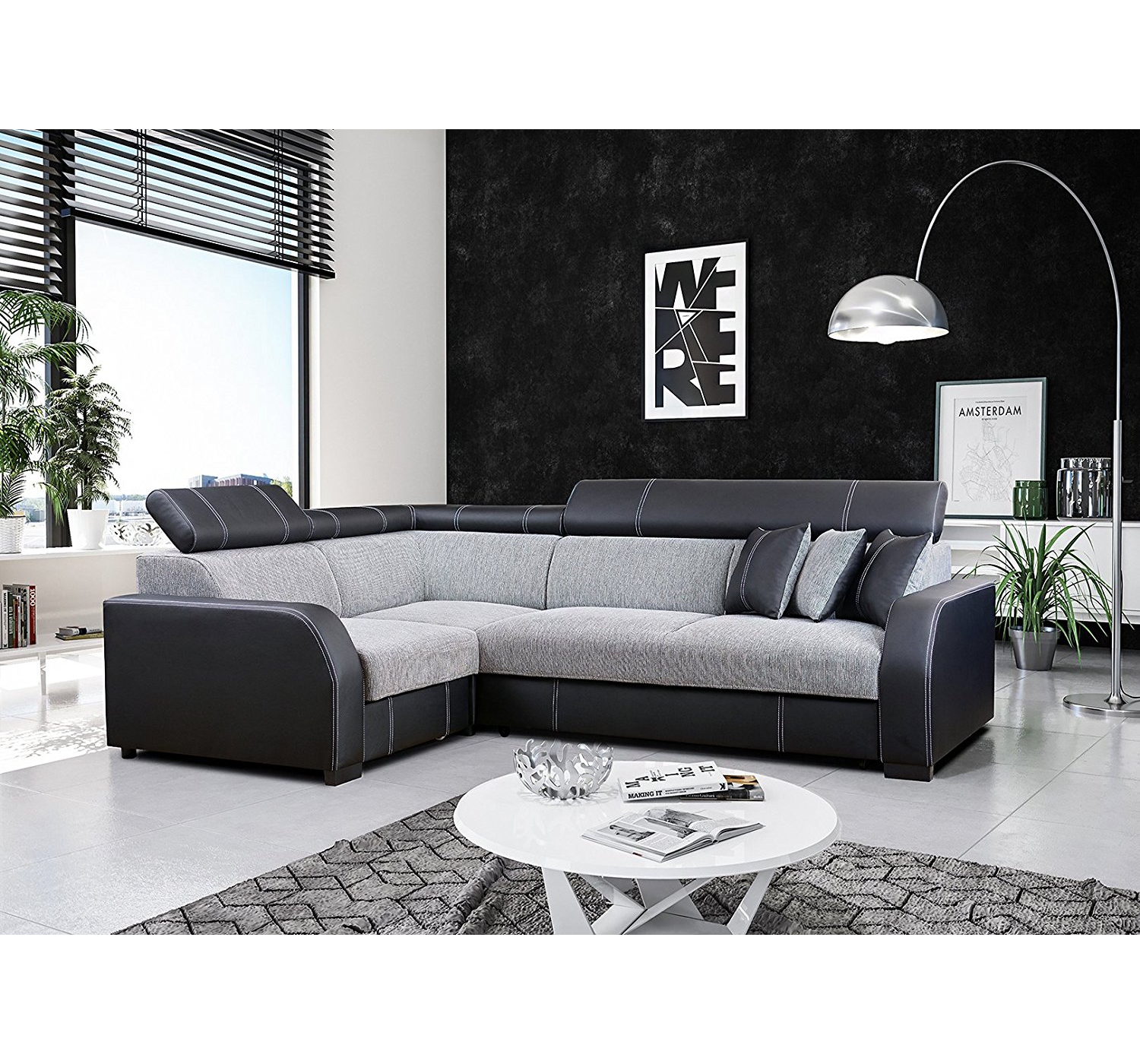 ecksofa houston schwarz m bel muller braun. Black Bedroom Furniture Sets. Home Design Ideas