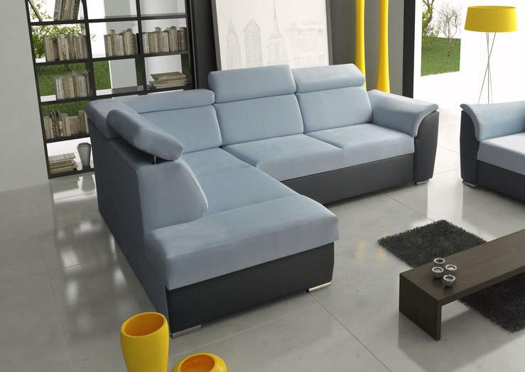 ecksofa modena ii blau m bel muller braun. Black Bedroom Furniture Sets. Home Design Ideas