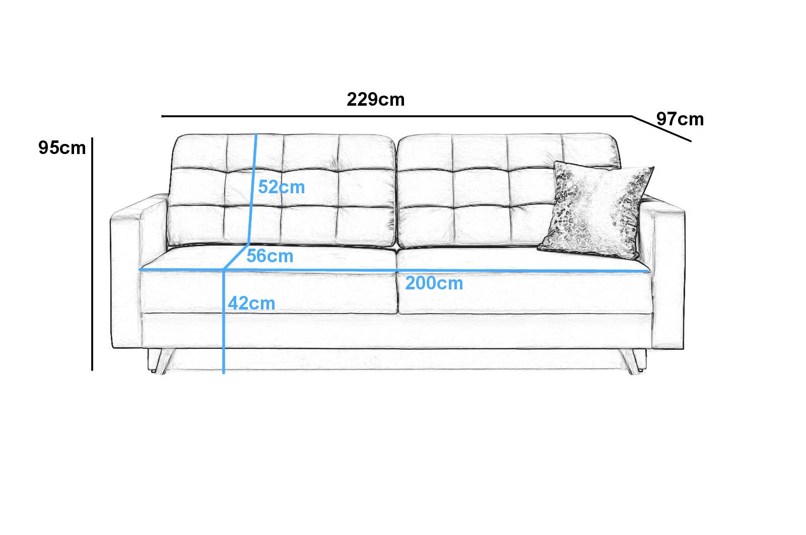 Couch masse for Sofa dunkelgrun