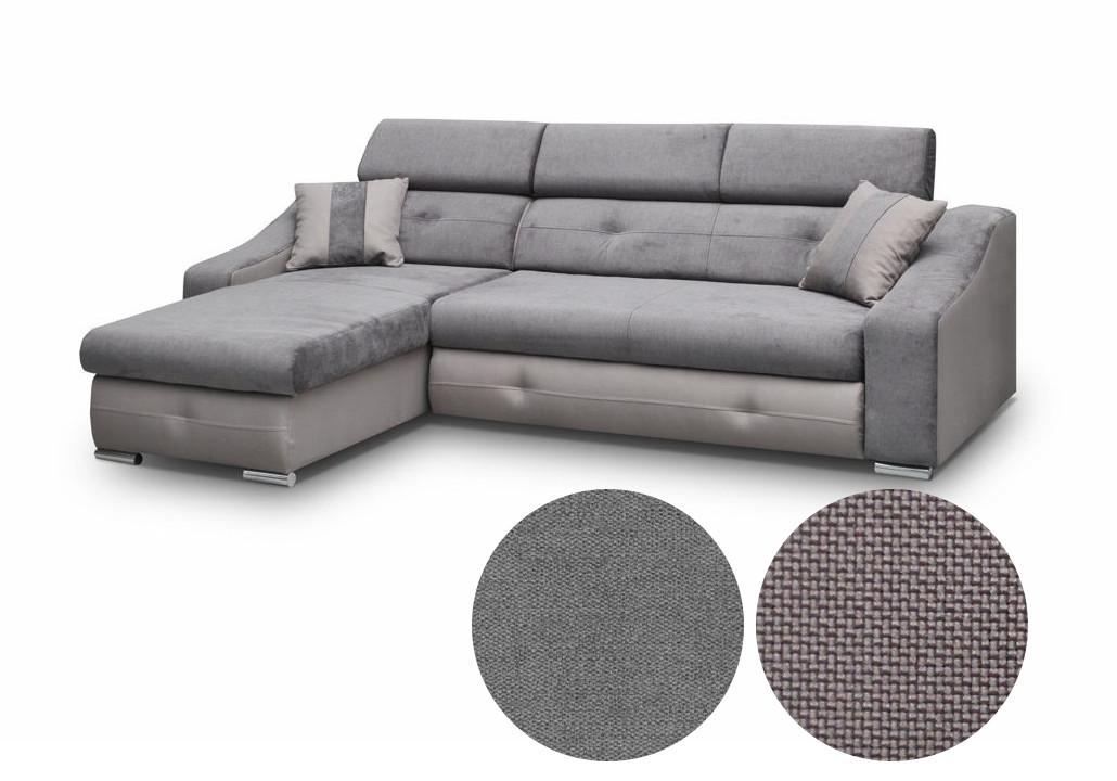 ecksofa sofa eckcouch fl ssigkeitsabweisender stoff grau kleine couch apollo ebay. Black Bedroom Furniture Sets. Home Design Ideas