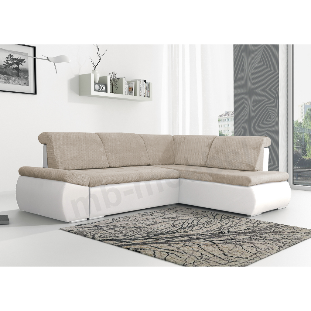 ecksofa bonita beige wei m bel muller braun. Black Bedroom Furniture Sets. Home Design Ideas