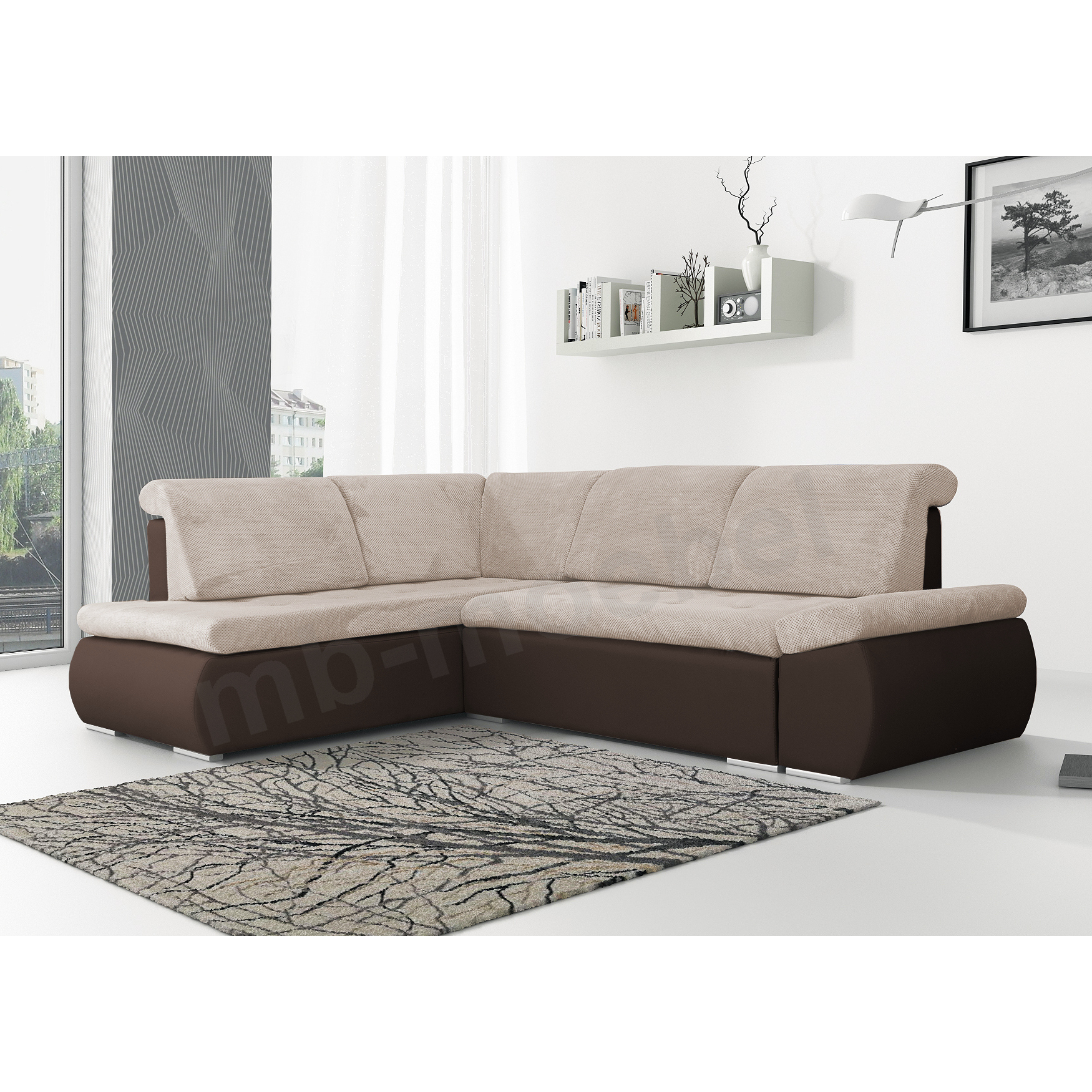 ecksofa bonita beige braun m bel muller braun. Black Bedroom Furniture Sets. Home Design Ideas
