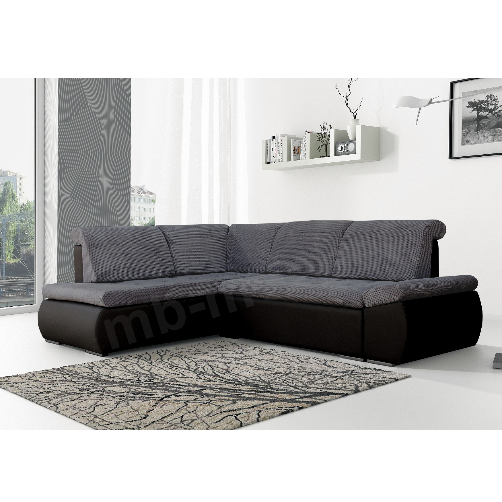 ecksofa bonita dunkelgrau schwarz m bel muller braun. Black Bedroom Furniture Sets. Home Design Ideas