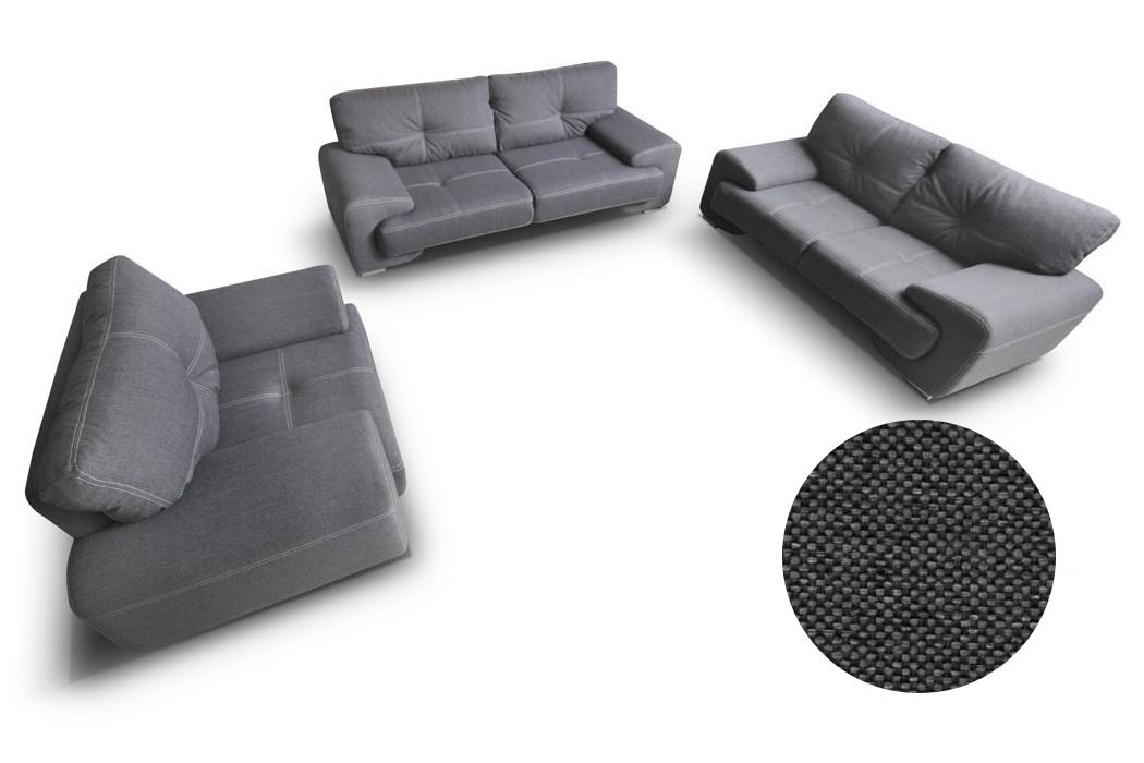 sofagarnitur sofa set couch 3er 2er sessel 3 2 1 braun stoffsofa webstoff enzo ebay. Black Bedroom Furniture Sets. Home Design Ideas