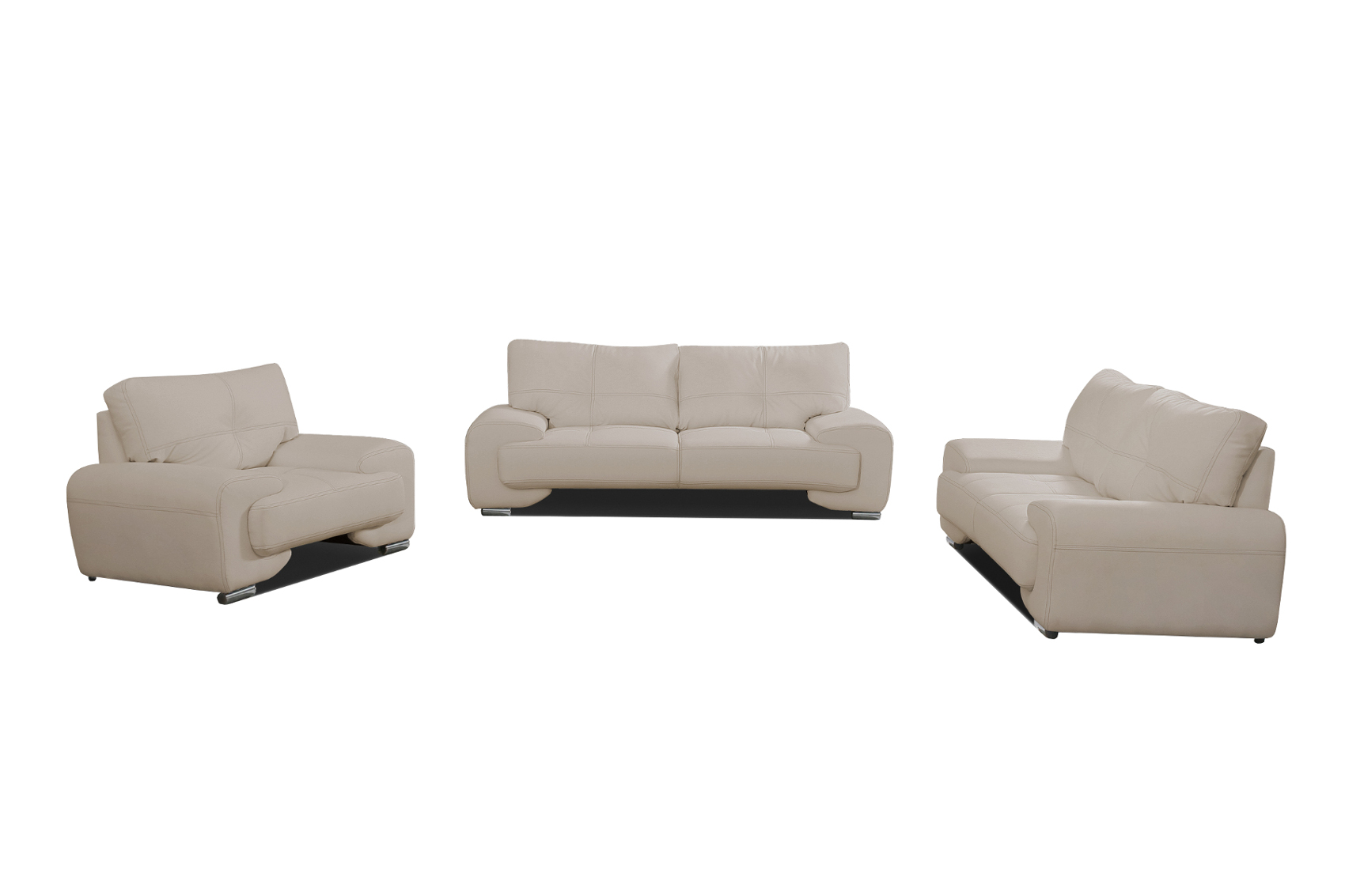 sofa set sofagarnitur couch 3er 2er sessel 3 2 1 kunstleder braun florida lux ebay. Black Bedroom Furniture Sets. Home Design Ideas