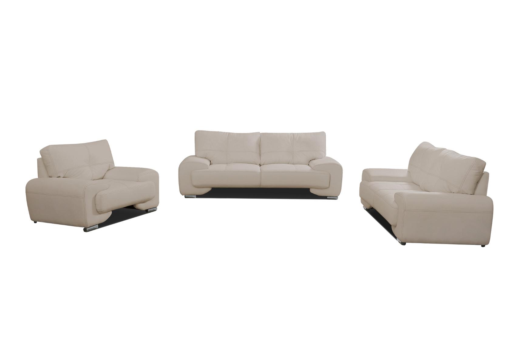 sofa set sofagarnitur couch 3er 2er sessel 3 2 1 kunstleder braun florida lux ebay. Black Bedroom Furniture Sets. Home Design Ideas