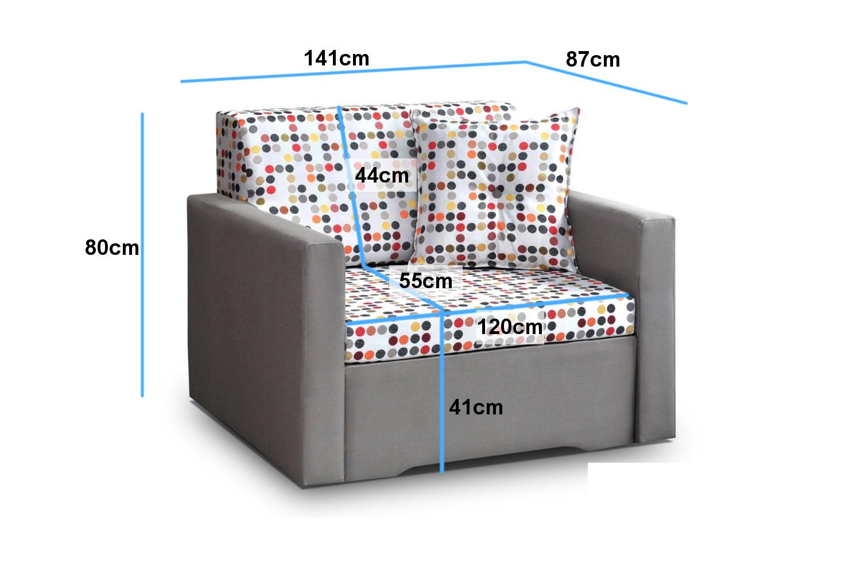 kindersofa mit bettfunktion schlafsofa kindersessel couch gr n bett giorgio 120 ebay. Black Bedroom Furniture Sets. Home Design Ideas