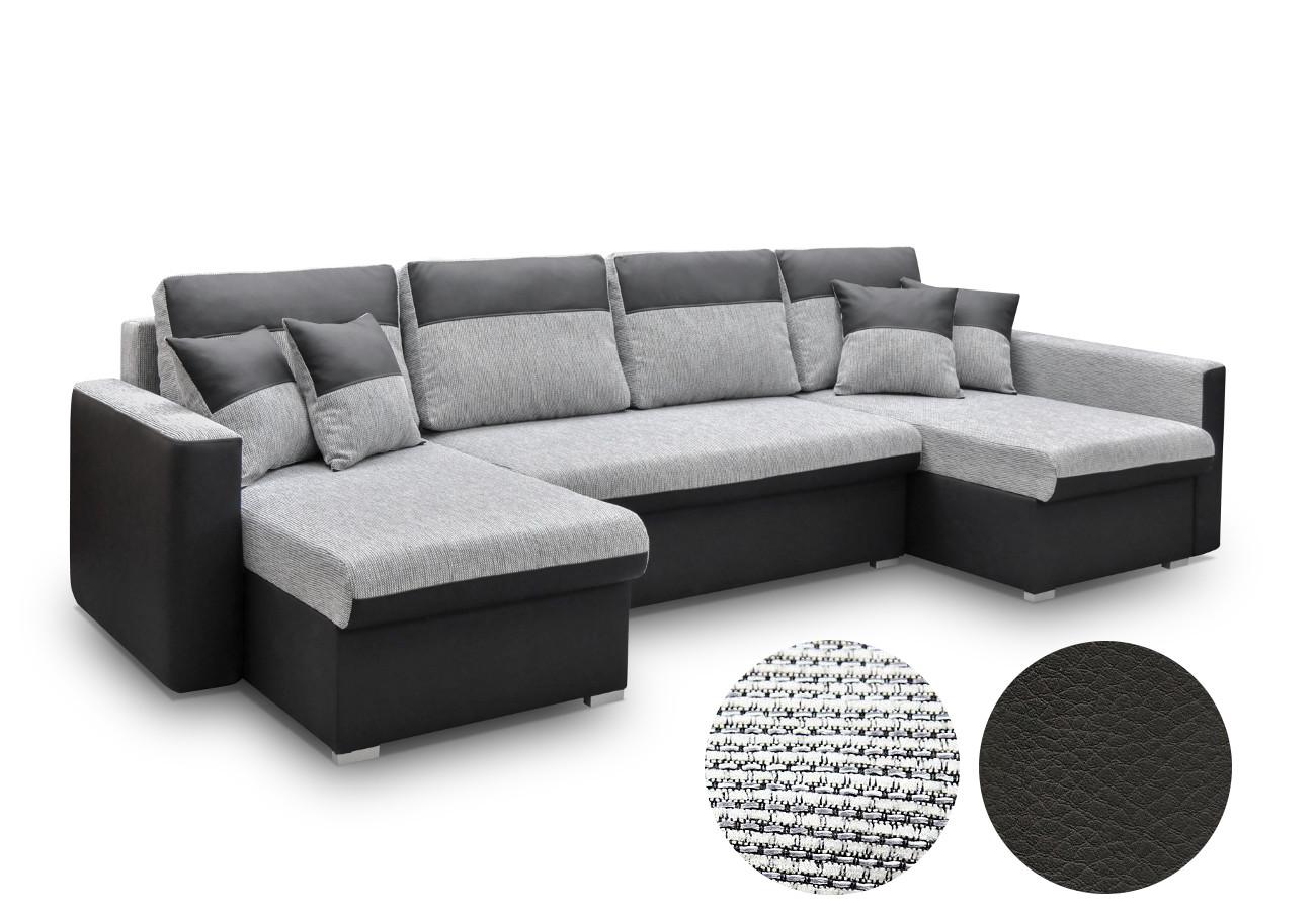 ecksofa grau eckcouch mit schlaffunktion couchgarnitur wohnlandschaft berlin u ebay. Black Bedroom Furniture Sets. Home Design Ideas