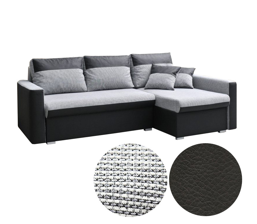 kleine ecksofa couch grau eckcouch mit schlaffunktion und bettkasten wei berlin ebay. Black Bedroom Furniture Sets. Home Design Ideas