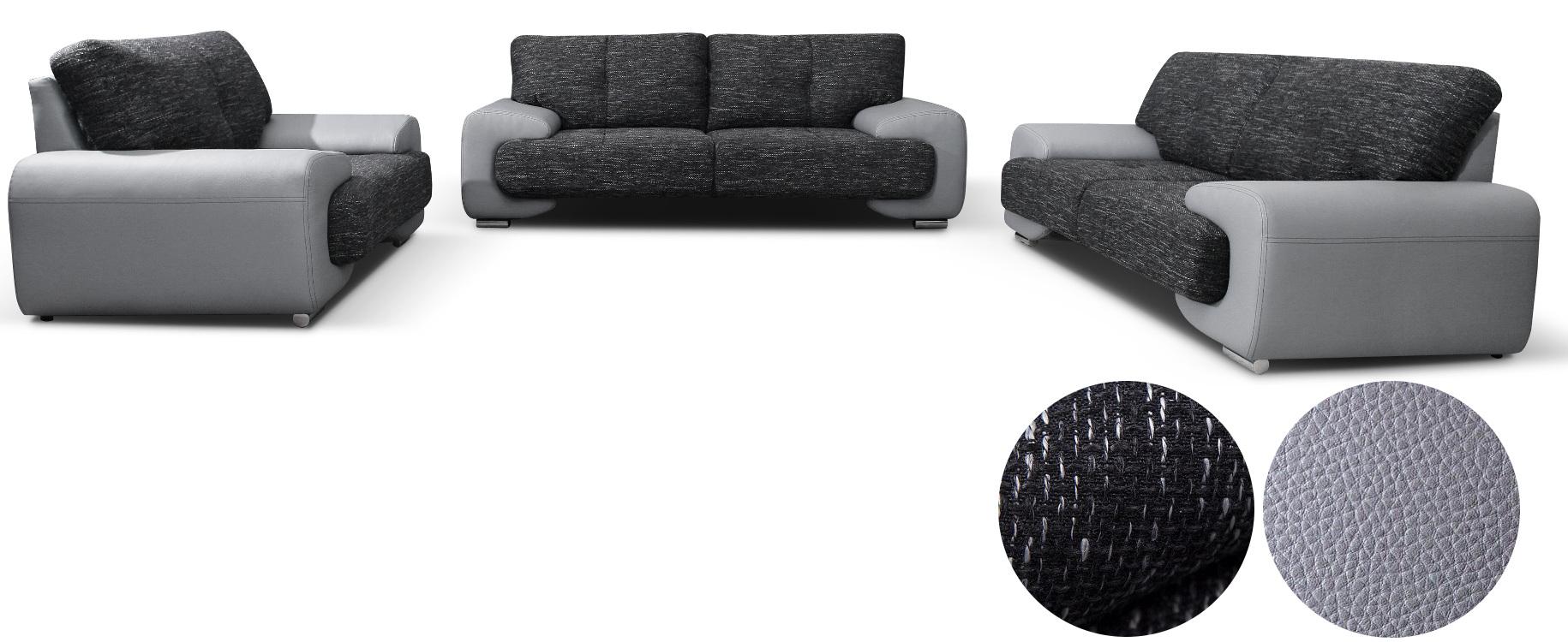 polstergarnitur sofa set couch 3er 2er sessel 3 2 1. Black Bedroom Furniture Sets. Home Design Ideas