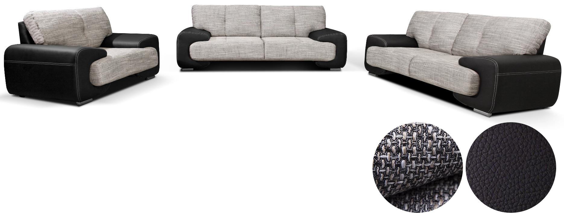 wohnlandschaft sofa set couch 3er 2er sessel 3 2 1. Black Bedroom Furniture Sets. Home Design Ideas