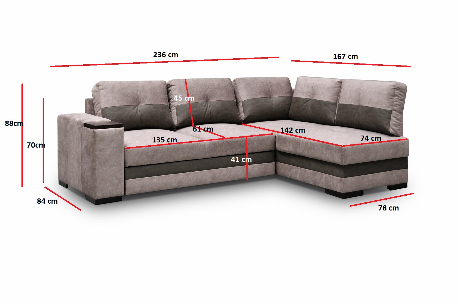 ecksofa sofa eckcouch mit schlaffunktion braun kleine ecke couch stoffsofa miami ebay. Black Bedroom Furniture Sets. Home Design Ideas