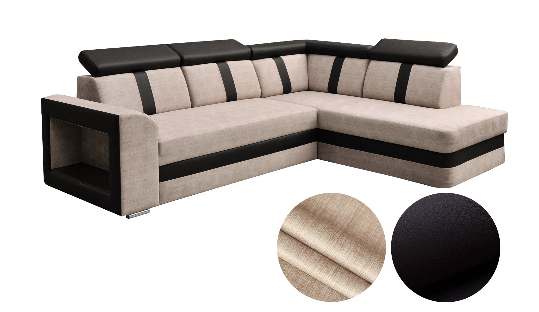 ecksofa sofa eckcouch couch mit schlaffunktion bettkasten. Black Bedroom Furniture Sets. Home Design Ideas