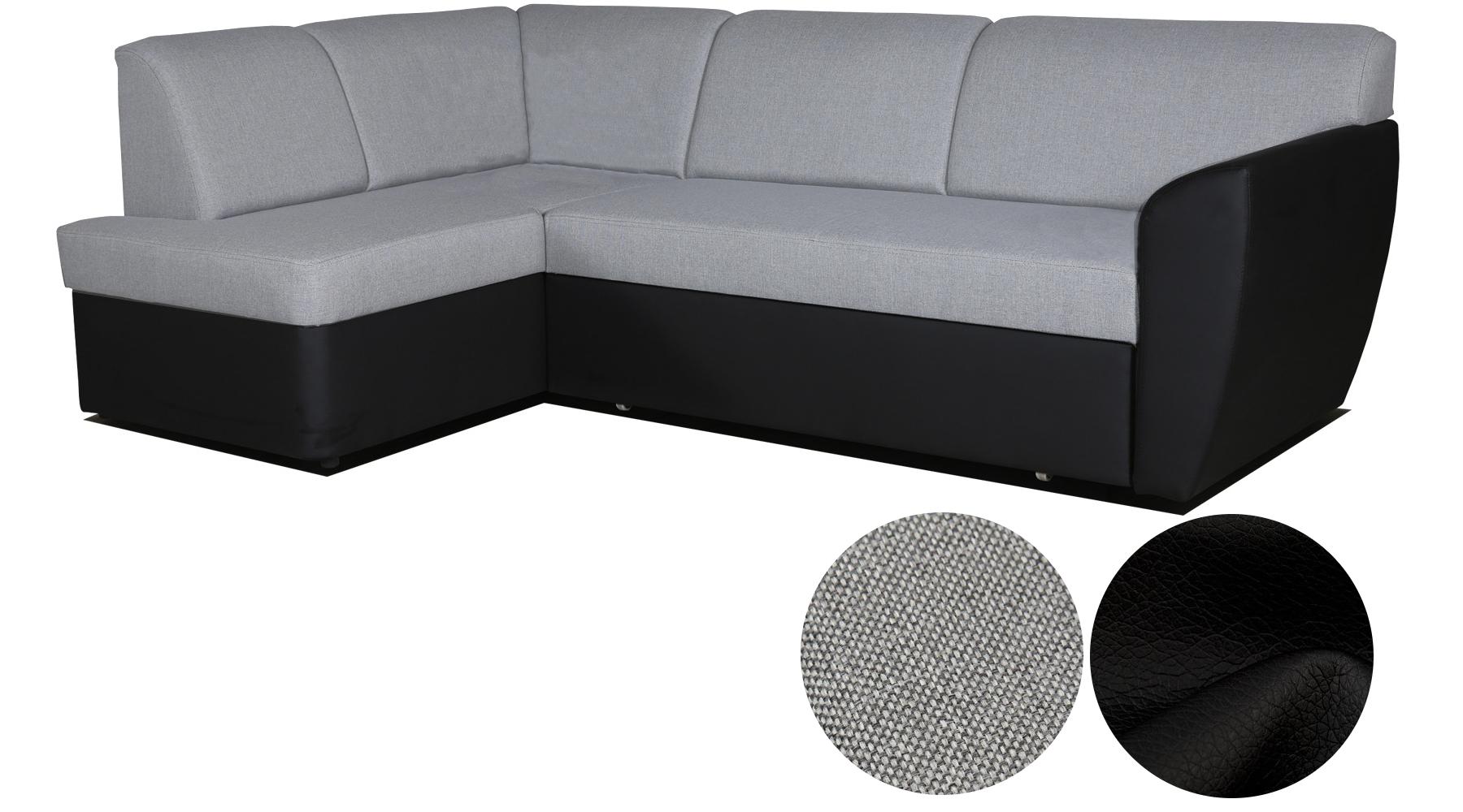ecksofa sofa eckcouch couch wohnlandschaft polsterecke l form grau wei margo ebay. Black Bedroom Furniture Sets. Home Design Ideas