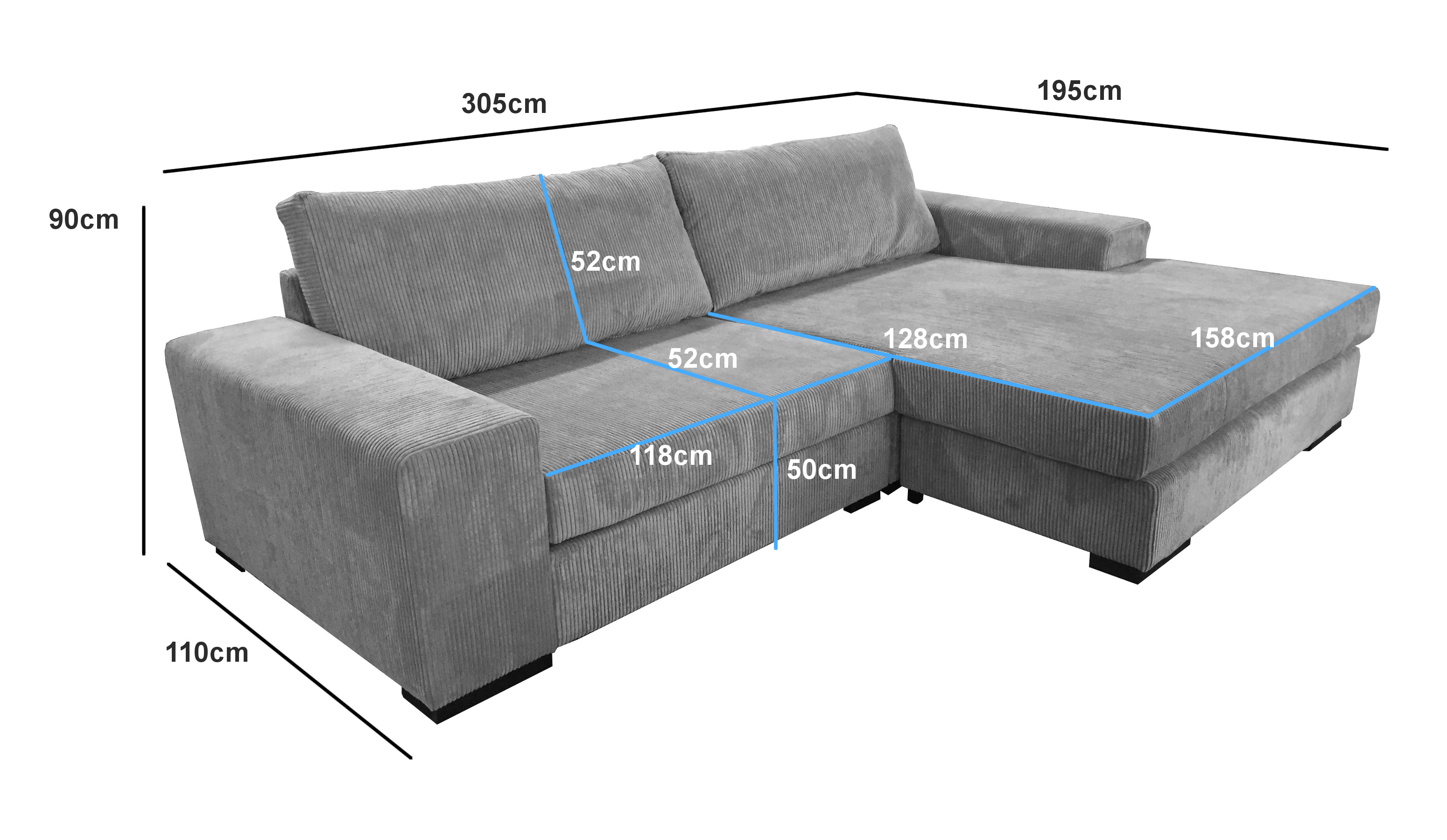 Ecksofa sofa eckcouch couch ottomane l form wohnlandschaft for Sofa l form grau