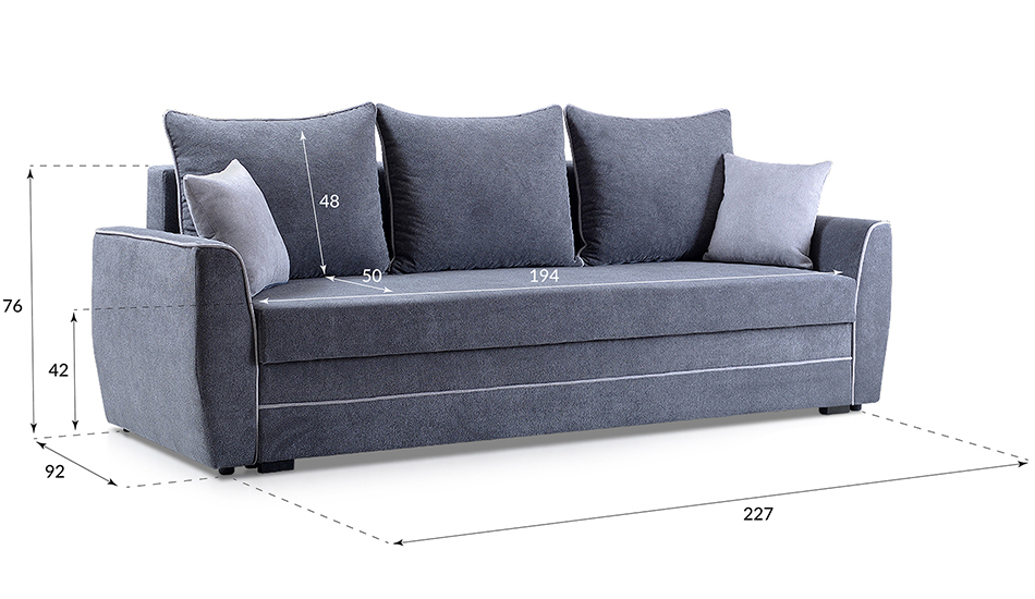 kleines couch mit schlaffunktion sofa sofabett bettsofa 140 cm breit grau izzy ebay. Black Bedroom Furniture Sets. Home Design Ideas