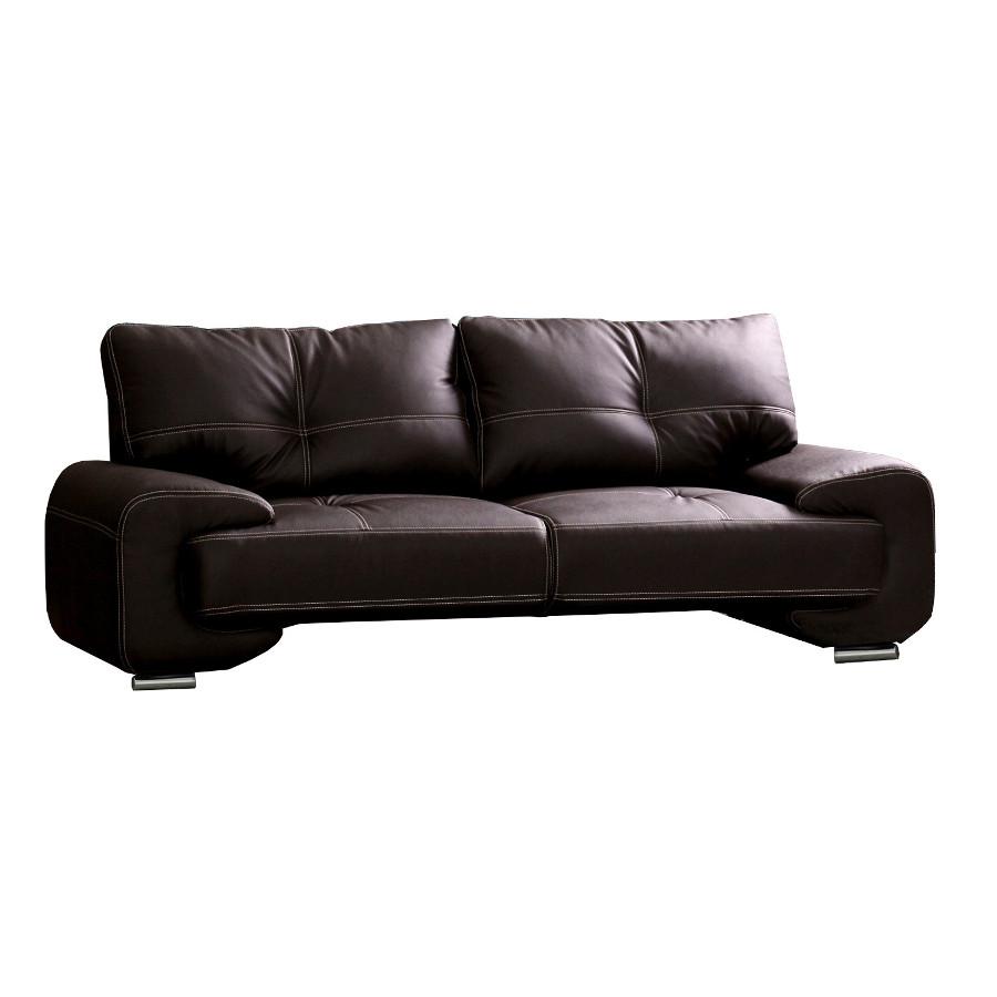 3 sitzer design sofa 3er b ro kunstleder sofagarnitur wei couch florida lux ebay. Black Bedroom Furniture Sets. Home Design Ideas