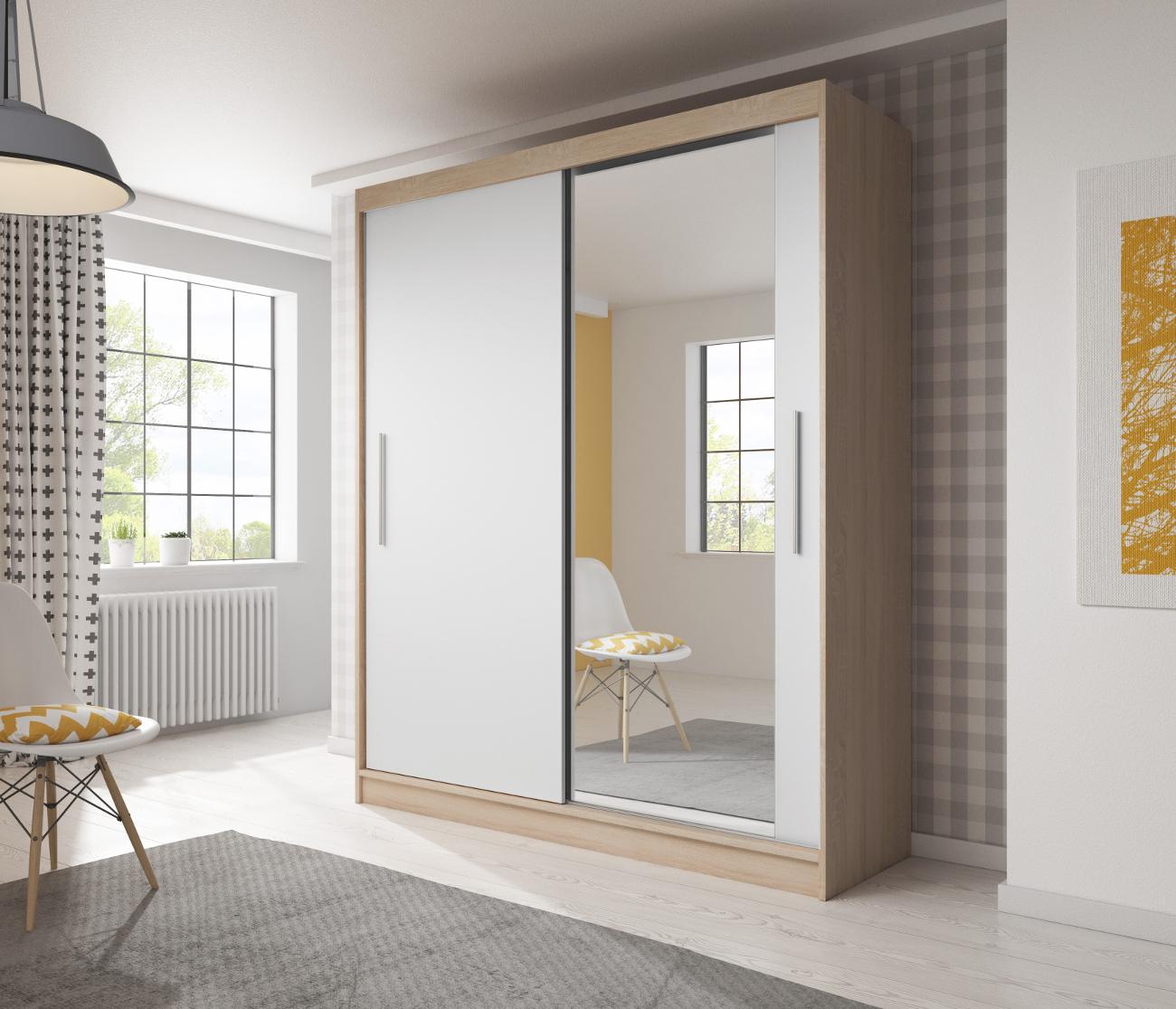 kleiderschrank tess 03 sonoma wei m bel muller braun. Black Bedroom Furniture Sets. Home Design Ideas
