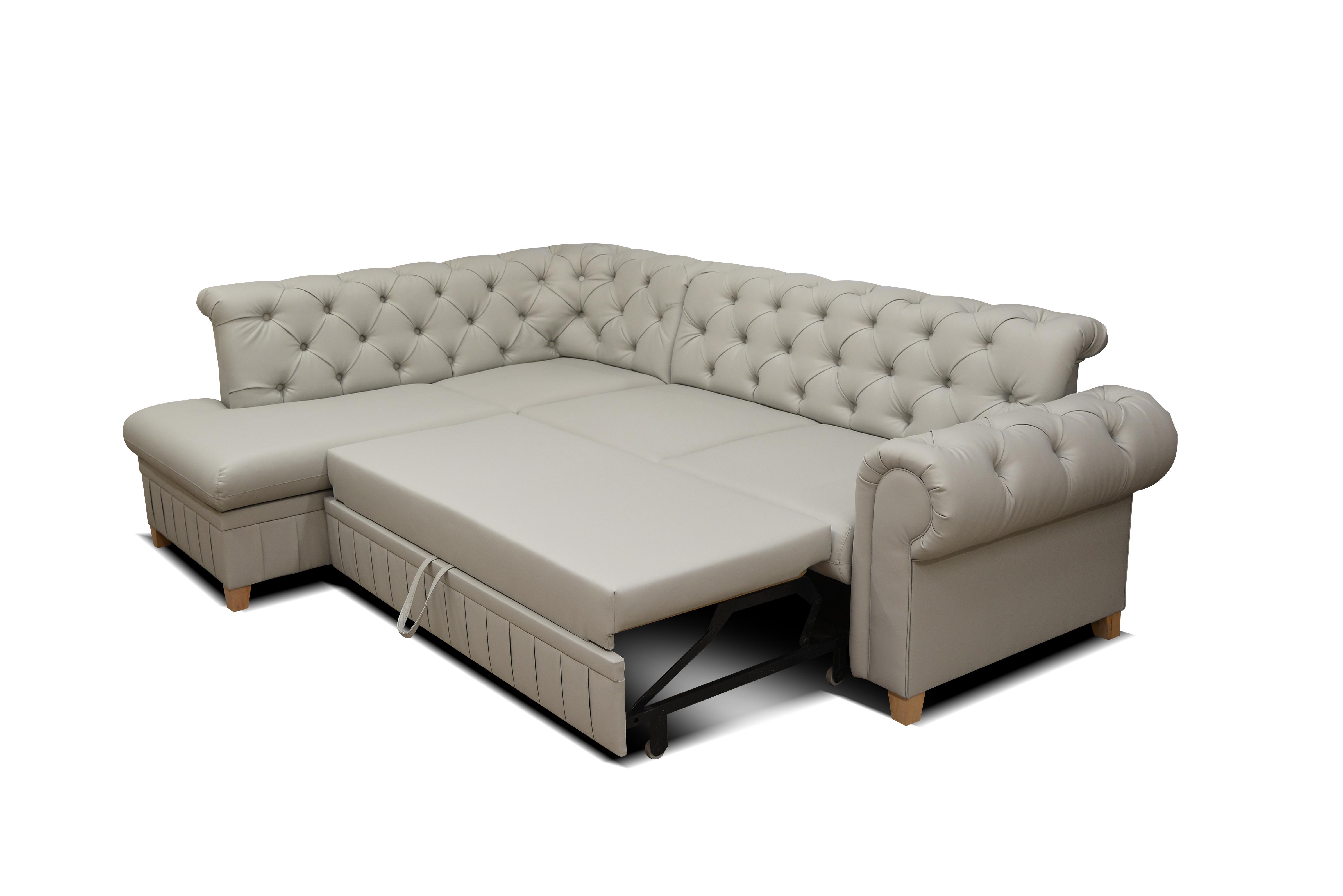 ecksofa mit schlaffunktion und bettkasten couch sofa beige chesterfield ebay. Black Bedroom Furniture Sets. Home Design Ideas