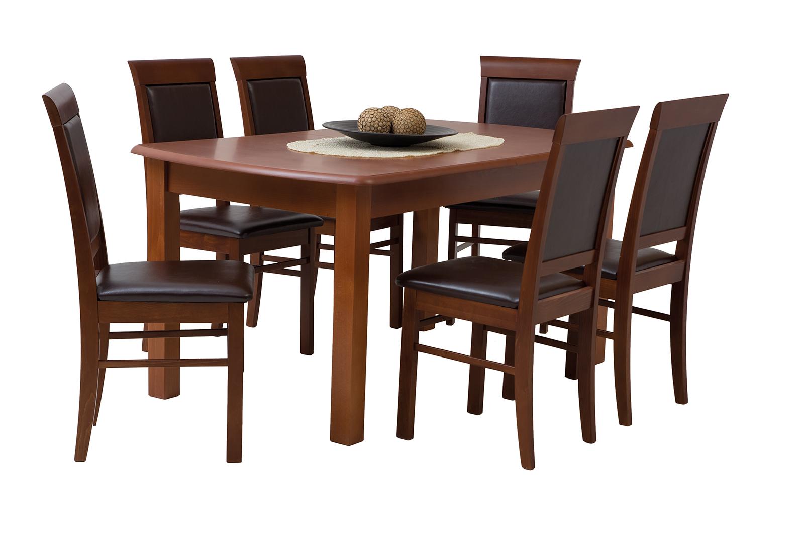 esstisch mit 6 st hlen ausziehbare tisch esszimmertisch tischgruppe domino ebay. Black Bedroom Furniture Sets. Home Design Ideas