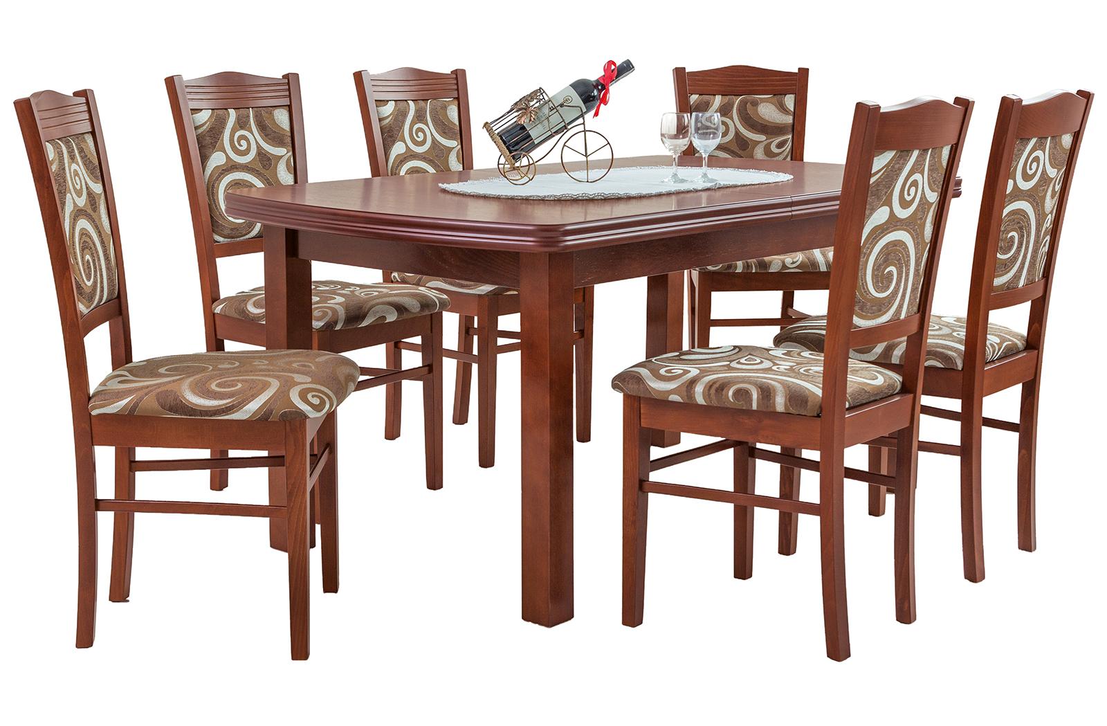 esstisch mit 6 st hlen ausziehbare tisch esszimmertisch tischgruppe alice ebay. Black Bedroom Furniture Sets. Home Design Ideas