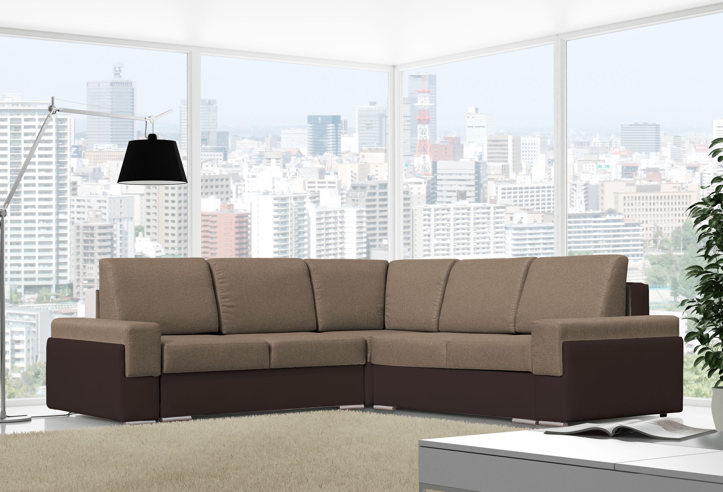 gro es ecksofa mit schlaffunktion eckcouch sofa polsterecke grau xxl bruno iii ebay. Black Bedroom Furniture Sets. Home Design Ideas