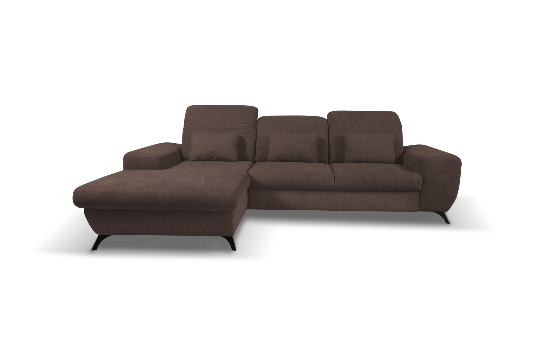 ecksofa eckcouch mit bettkasten sofa wohnlandschaft l form braun corse ebay. Black Bedroom Furniture Sets. Home Design Ideas