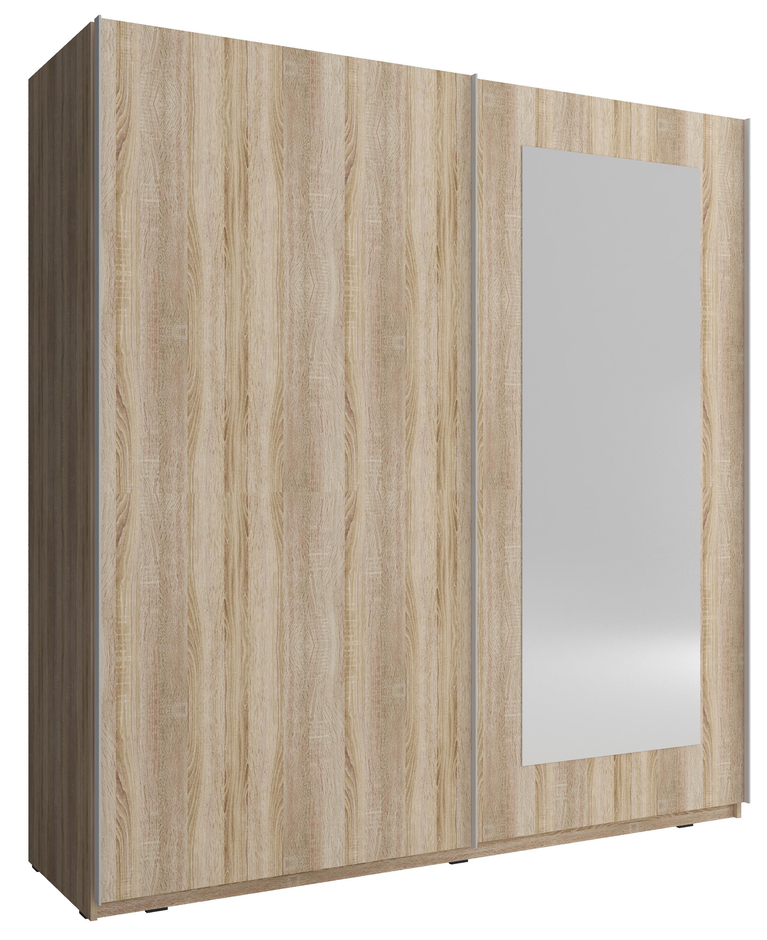 kleiderschrank mit schiebet ren garderobe schrank wei 150 cm wei neleviii ebay. Black Bedroom Furniture Sets. Home Design Ideas