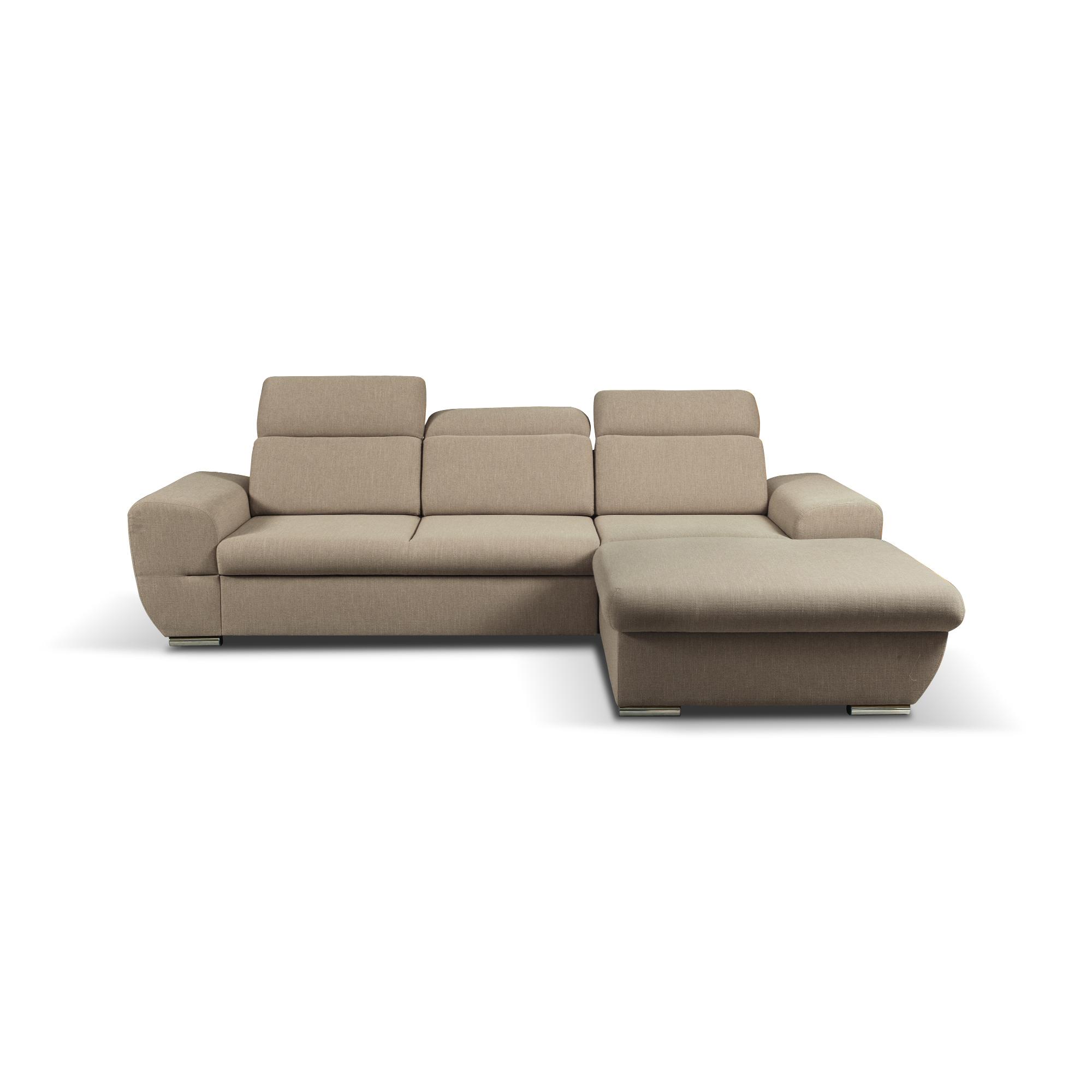 Eckcouch mit Schlaffunktion Couch Ecksofa Grau