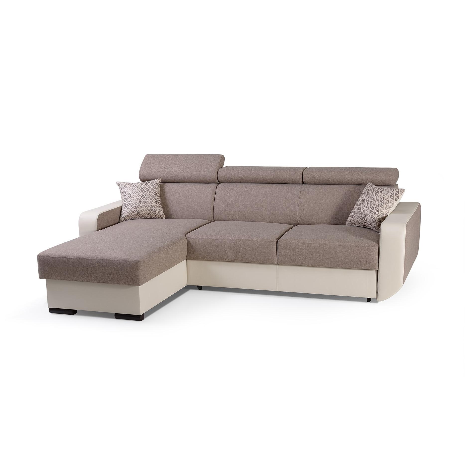 eckcouch mit schlaffunktion couch ecksofa grau wohnlandschaft l form sofa pedro ebay. Black Bedroom Furniture Sets. Home Design Ideas