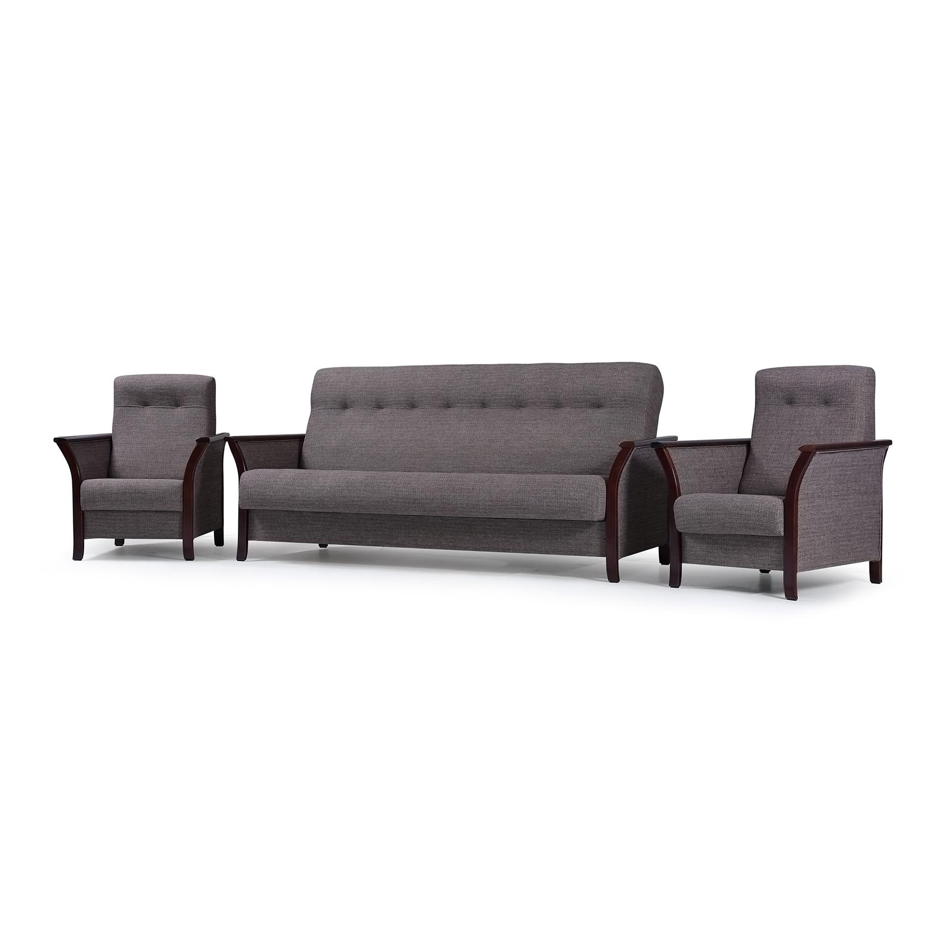 sofa set sofagarnitur couch und 2 sessel farbauswahl grau wohnzimmer barbados ebay. Black Bedroom Furniture Sets. Home Design Ideas
