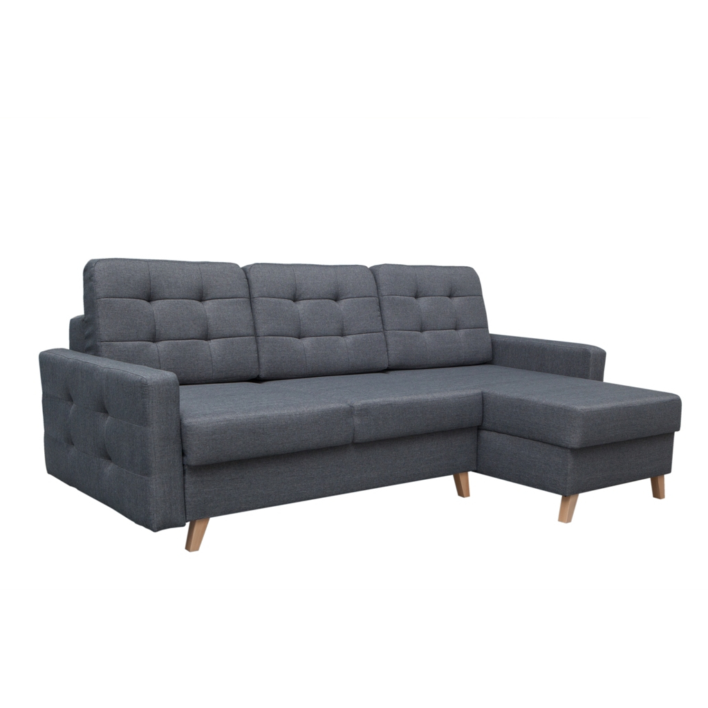 ecksofa sofa couch eckcouch mit schlaffunktion wohnlandschaft blau modern carla ebay. Black Bedroom Furniture Sets. Home Design Ideas