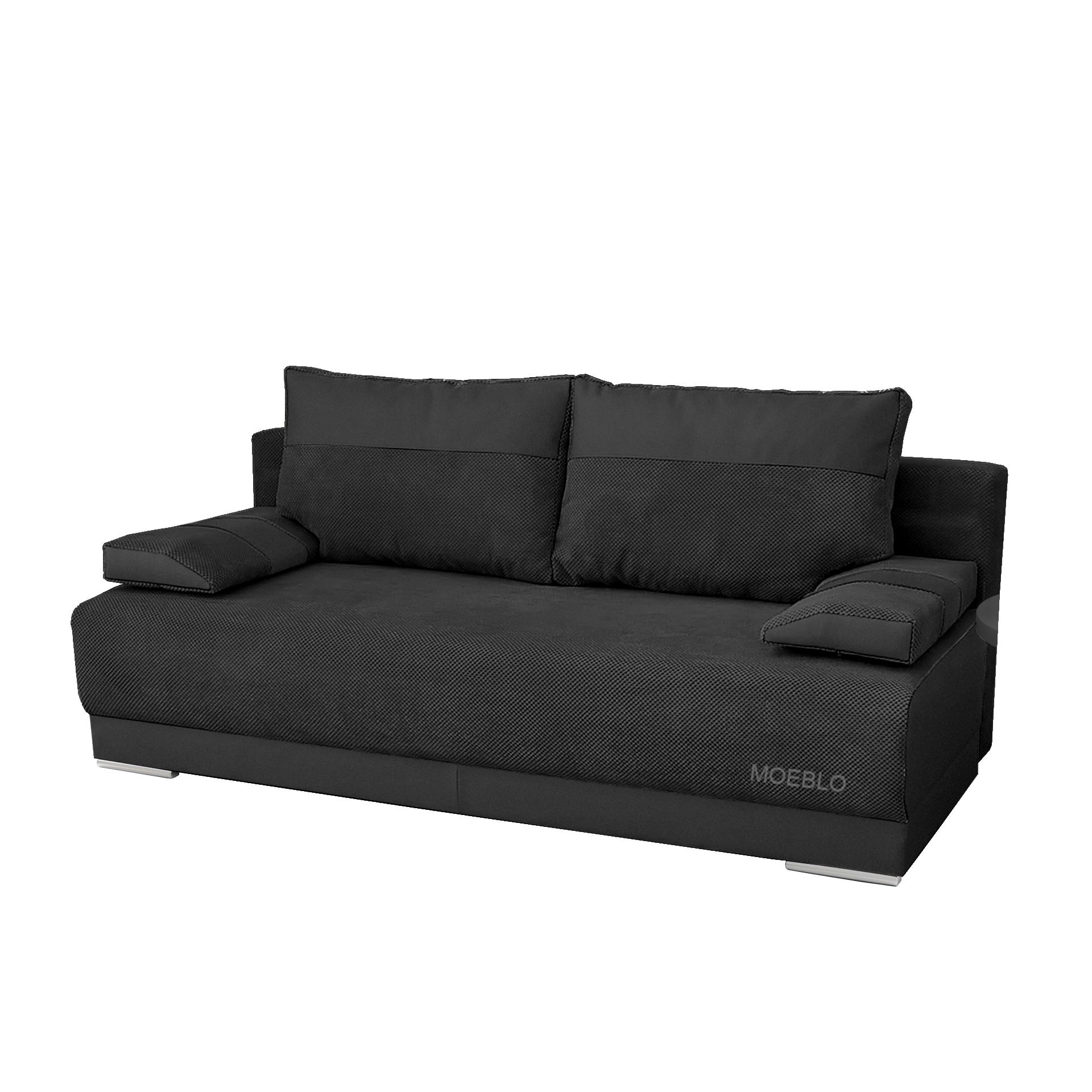 kleine couch mit schlaffunktion sofa schlafsofa bettsofa 140 cm breit grau nisa ebay