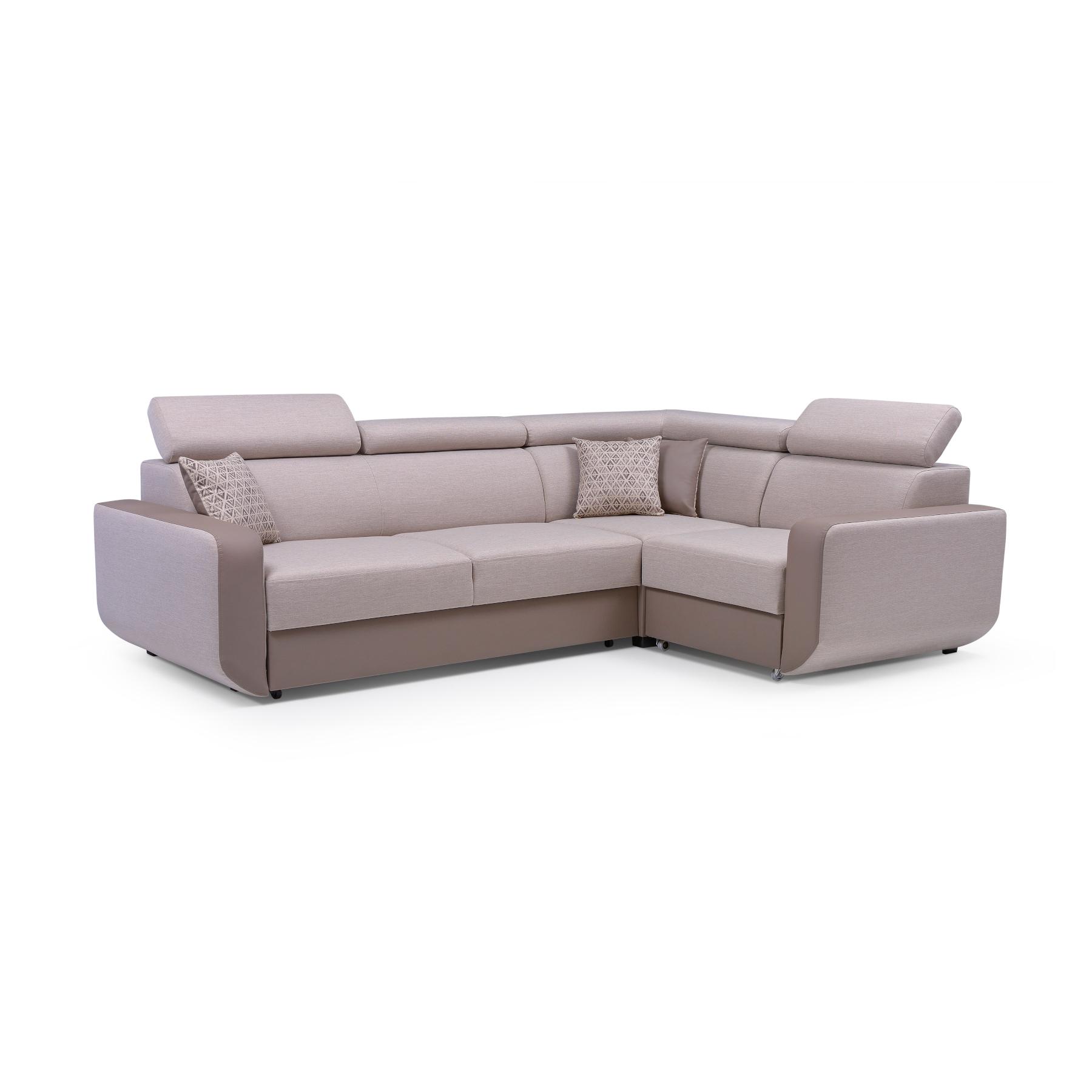 Wohnzimmermöbel Cappuccino: Eckcouch Mit Schlaffunktion Ecksofa Couch Wohnlandschaft L